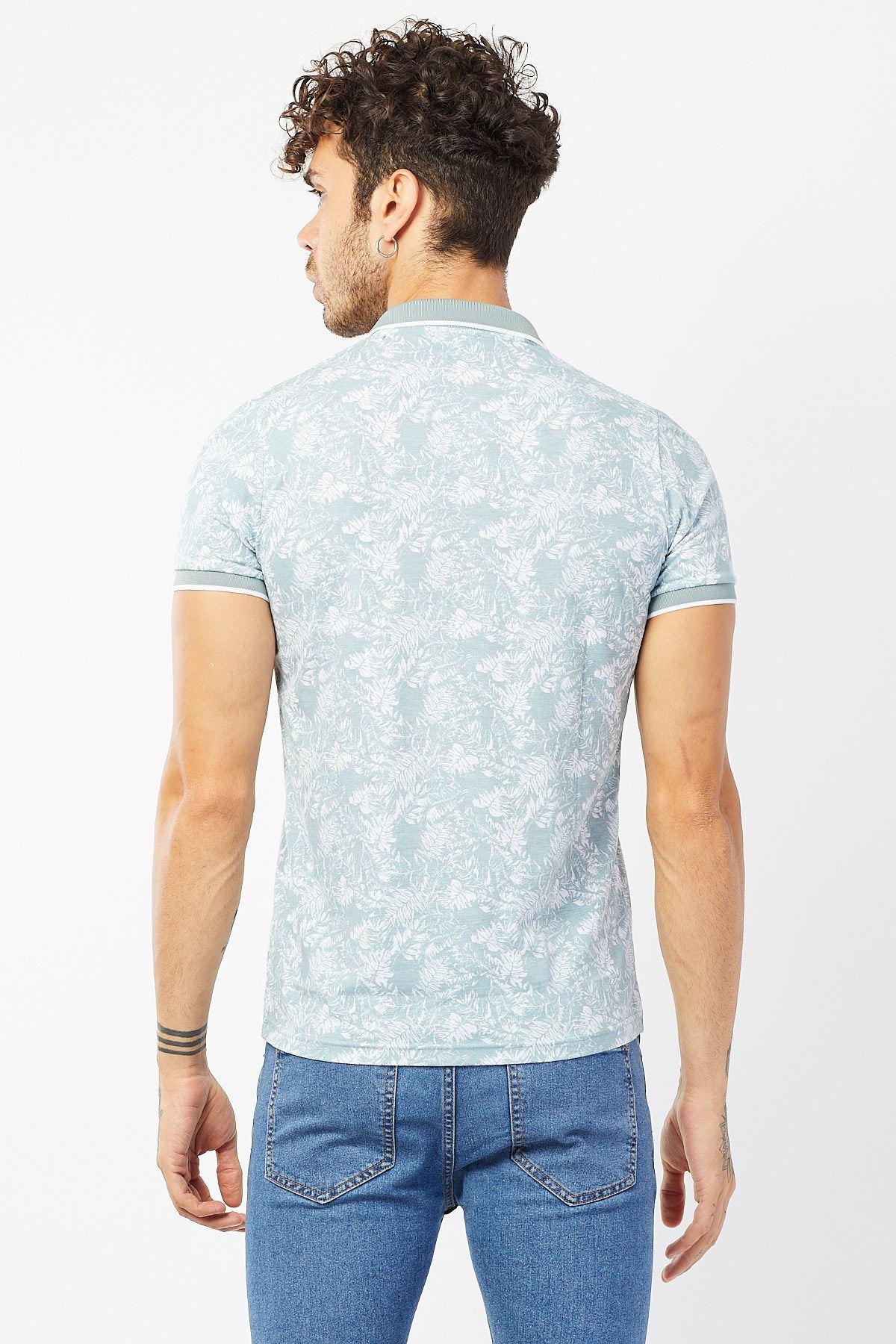 Polo Yaka Baskılı T-shirt