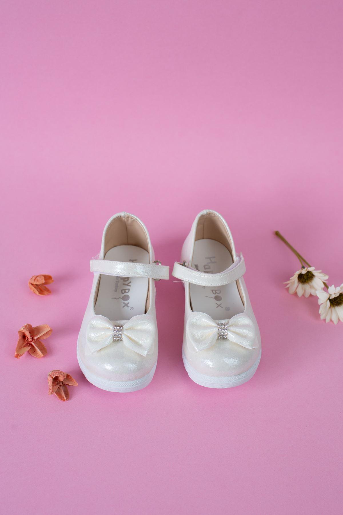 Poli Taban Çupra Sedef Bebe Ayakkabı