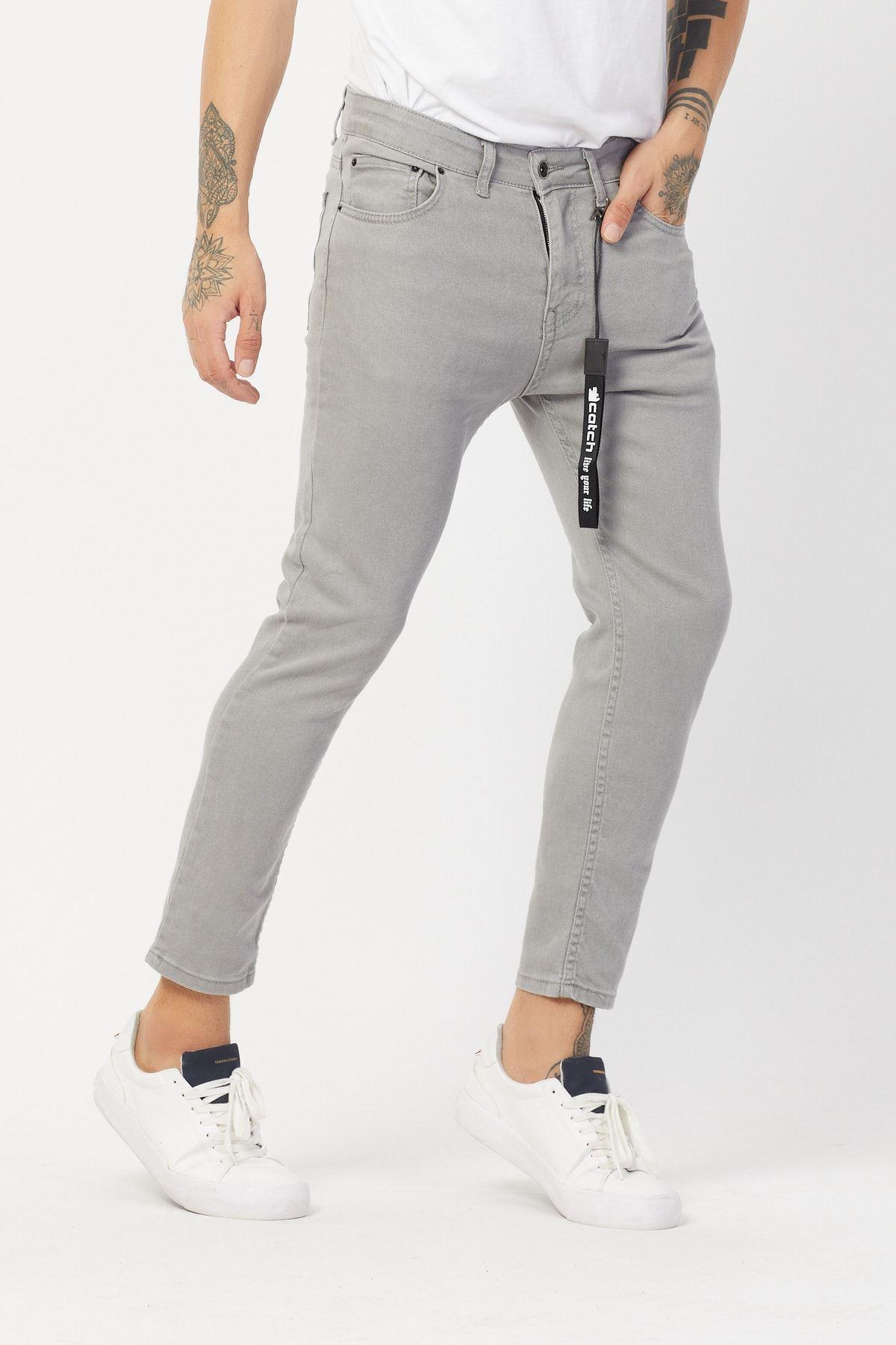 Gri Erkek Kot Pantolon