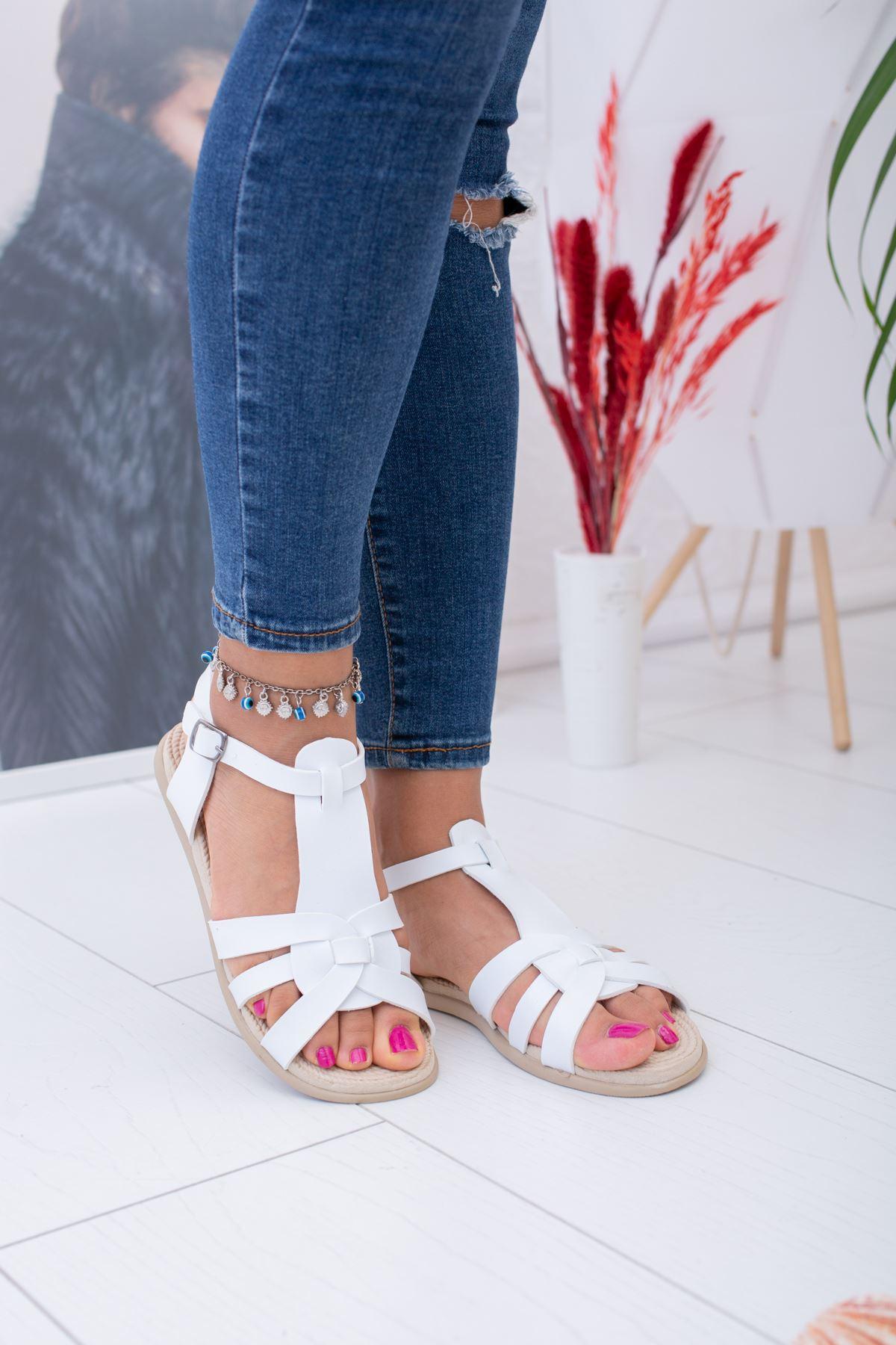 Çoklu Çapraz Kadın Sandalet