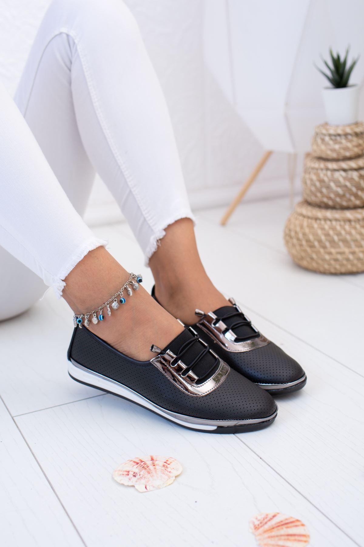 Ortopedik Pedli Siyah Ayakkabı