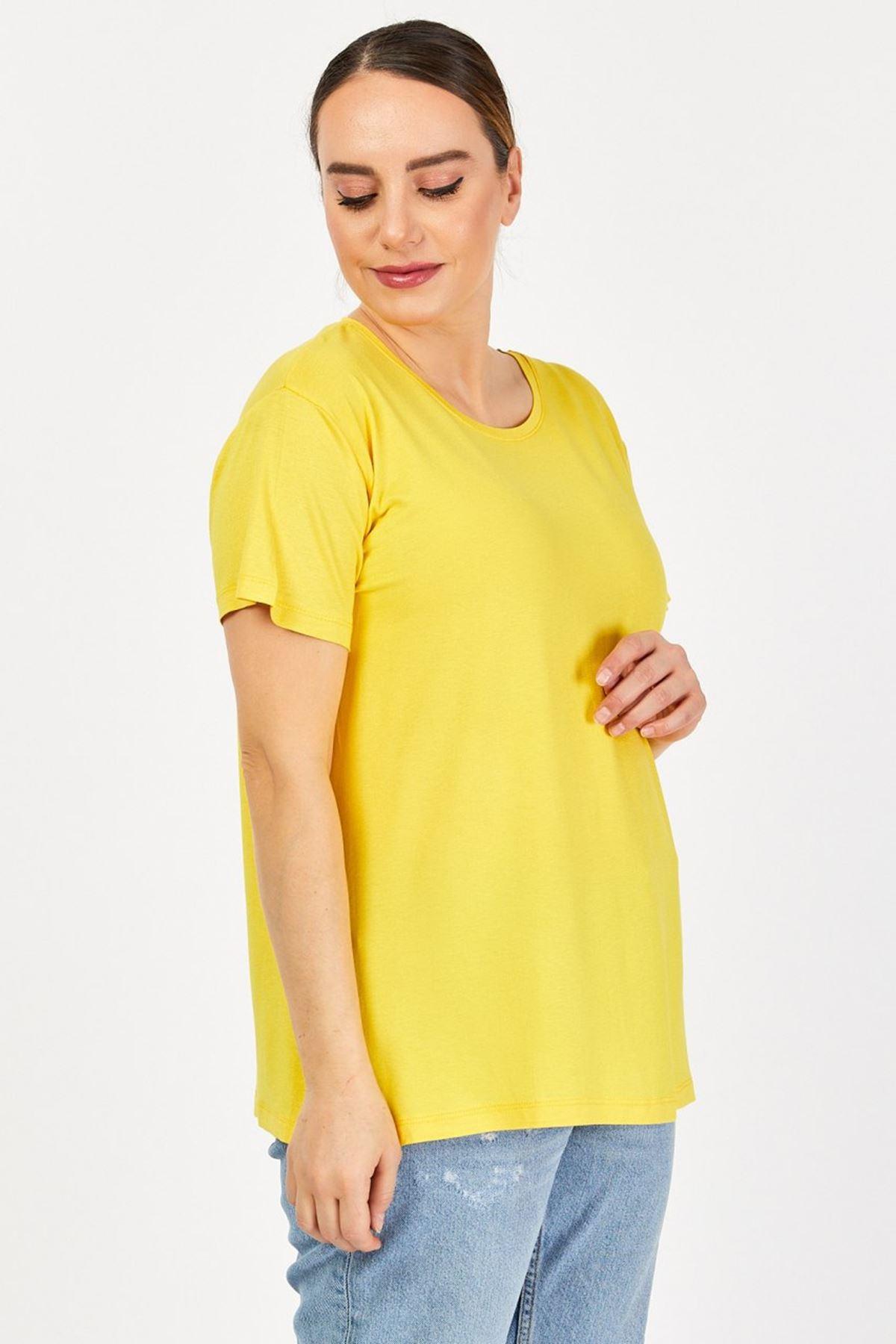 Büyük Beden Penye Kadın T-shirt