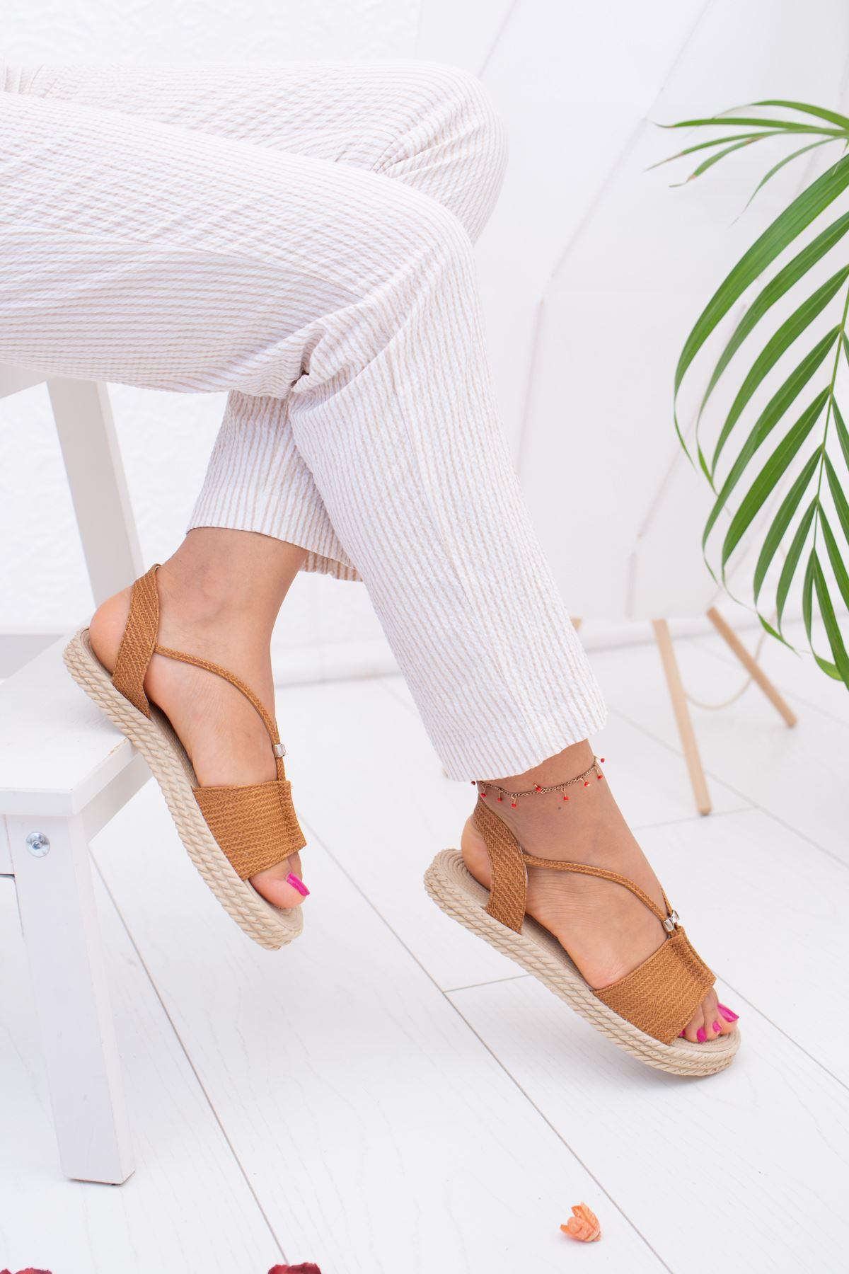 Taba Hasır Sandalet