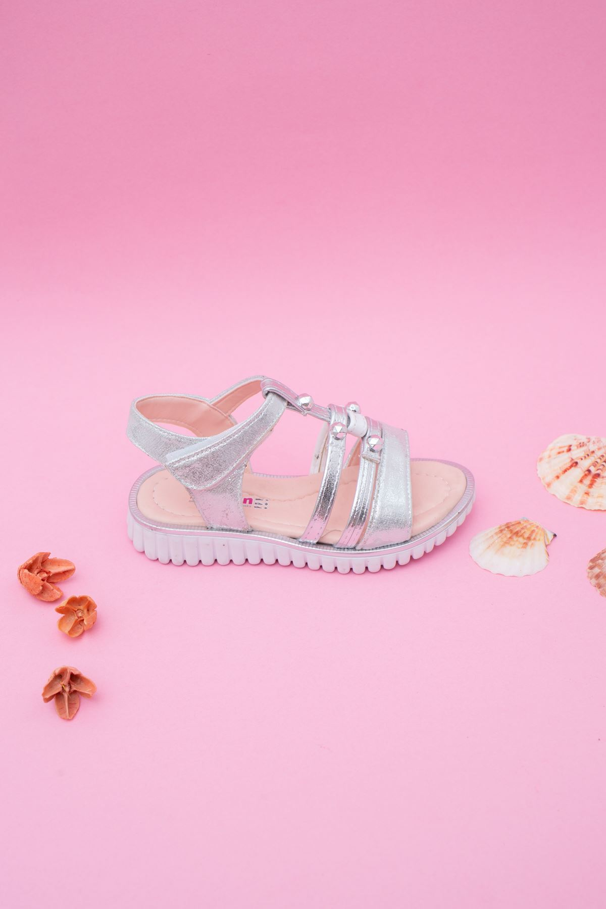 Taşlı Kız Çocuk Sandalet