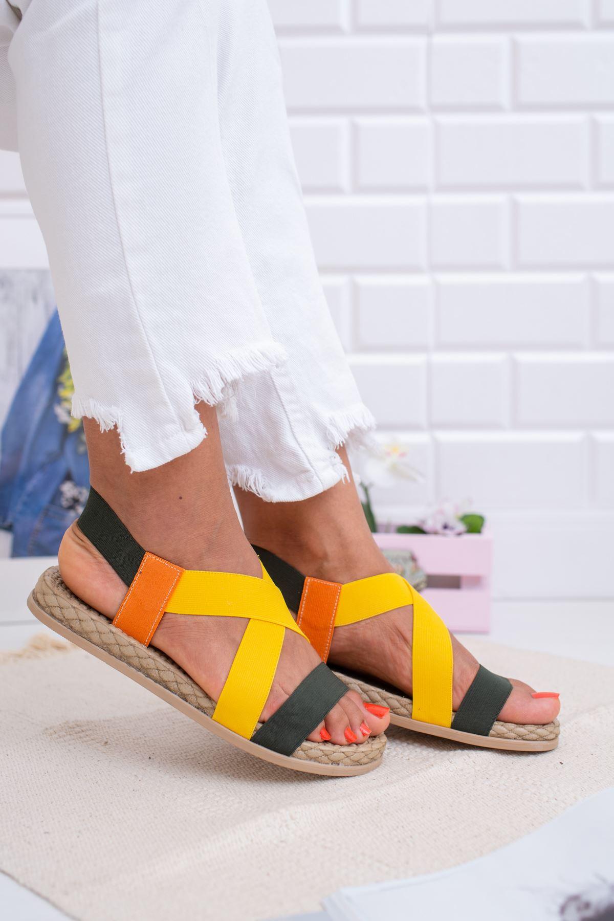 Lastikli Sandalet