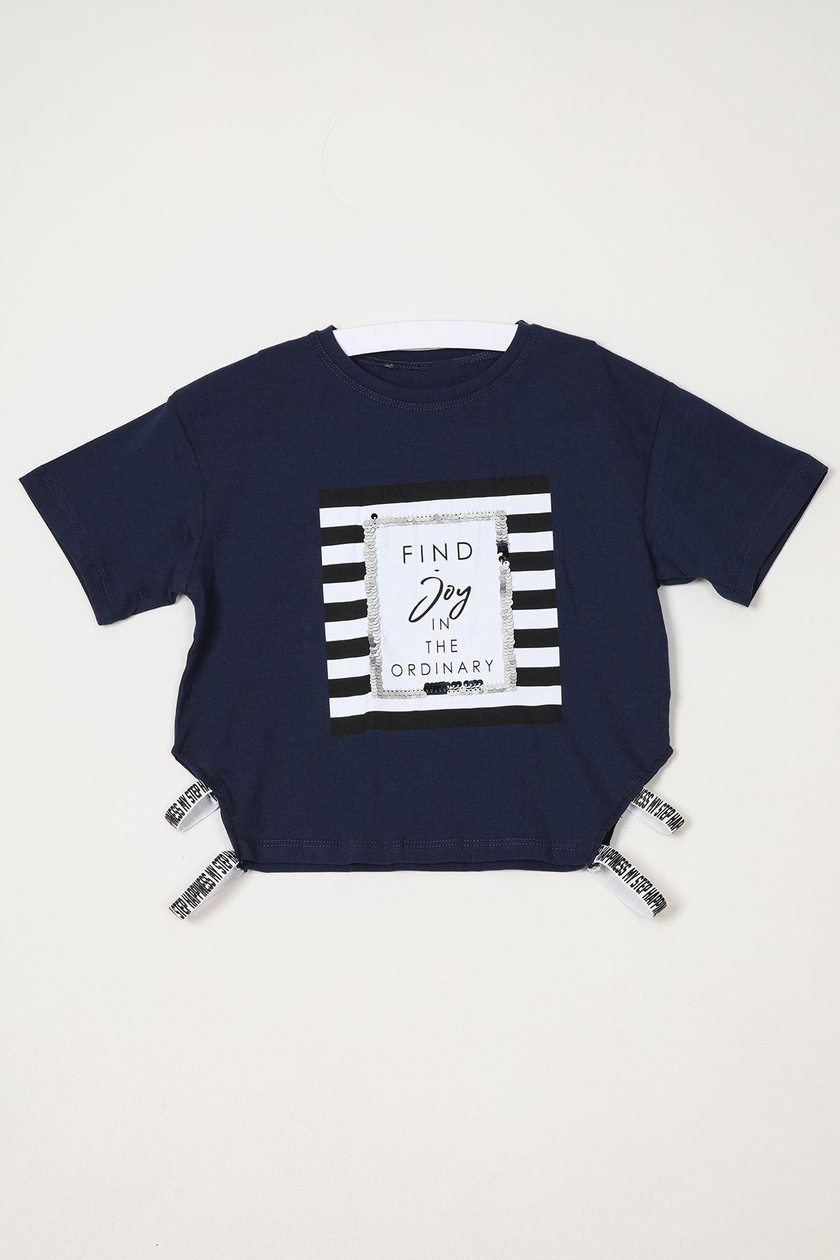 Baskılı Yanları Lastikli T-shirt