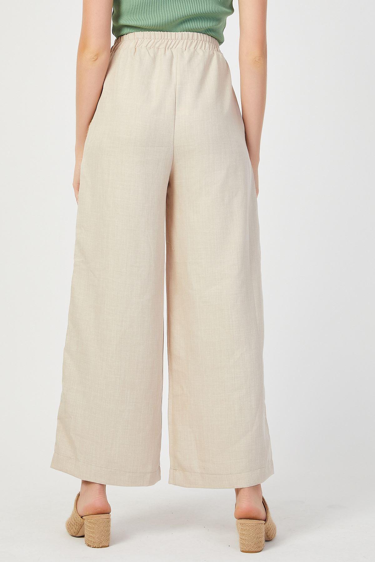 Bol Paça Yanları Şeritli Pantolon