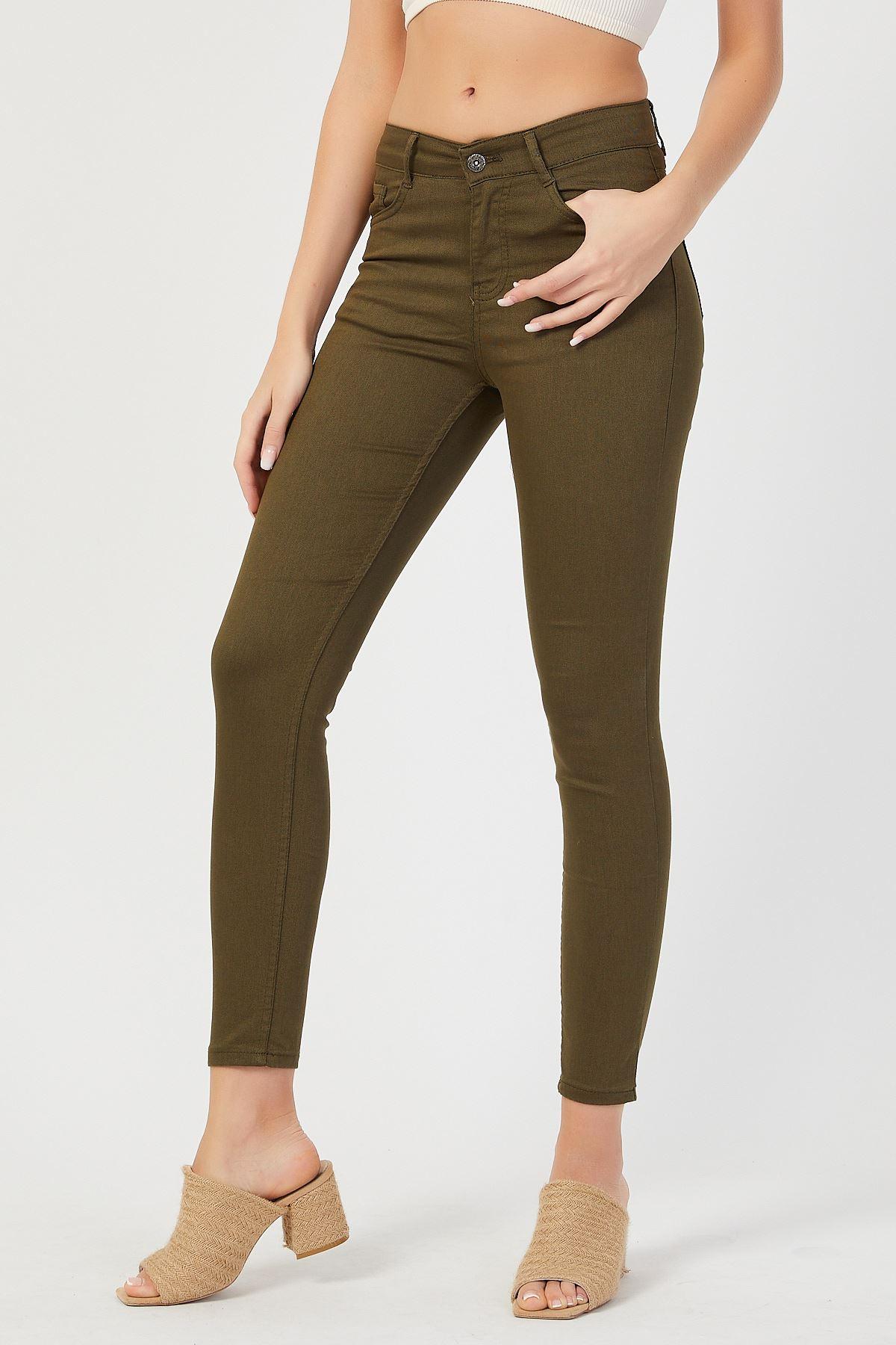 Yüksek Bel Keten Pantolon
