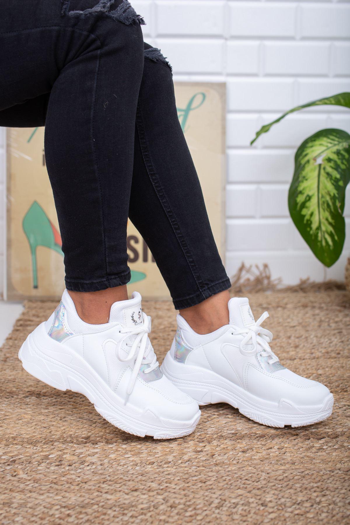 Loic Siyah Beyaz Spor Ayakkabı