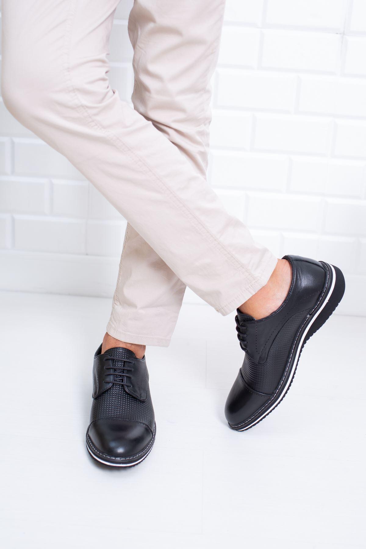 Siyah Rugan Erkek Ayakkabı