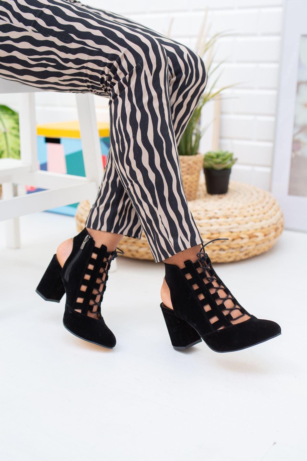 Bağcıklı Burnu Kapalı Kadın Ayakkabı