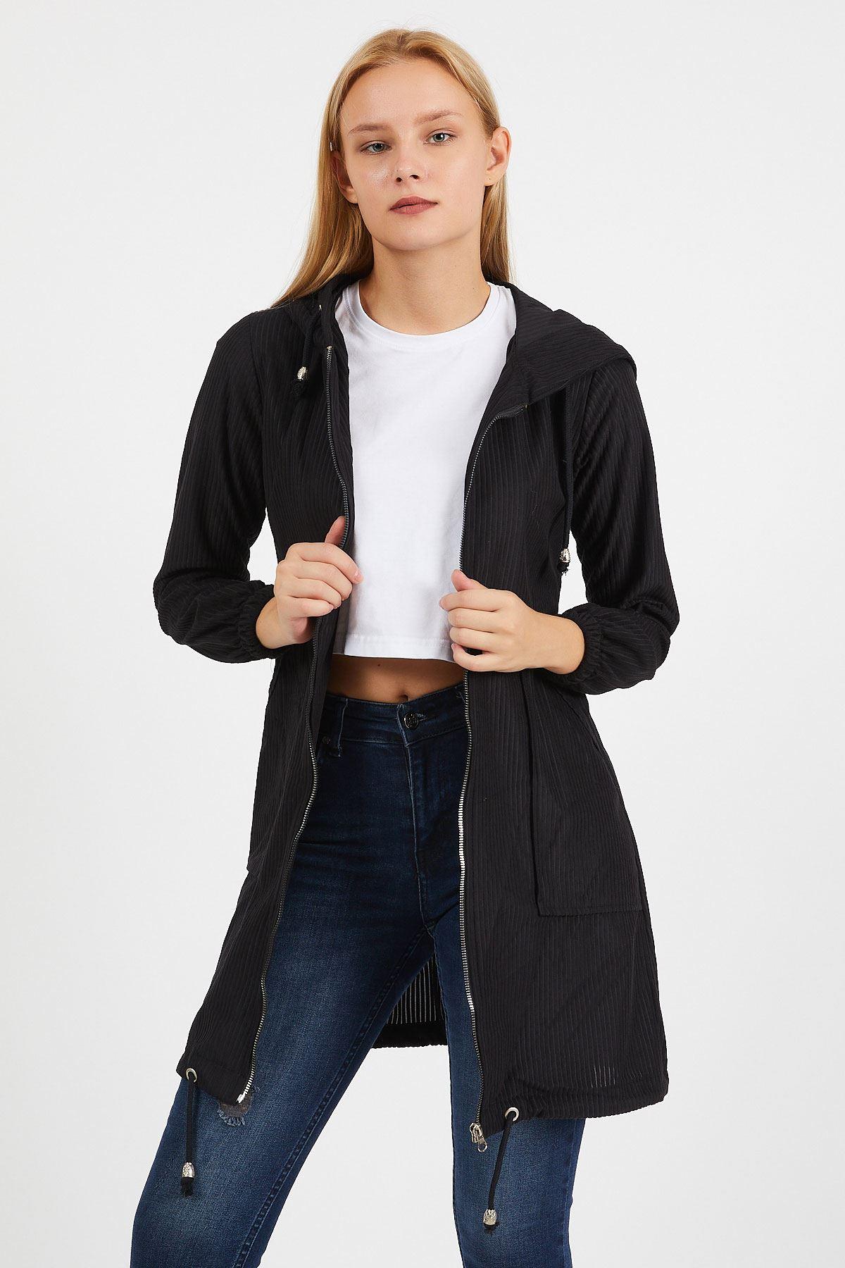 Uzun Kadife Ceket