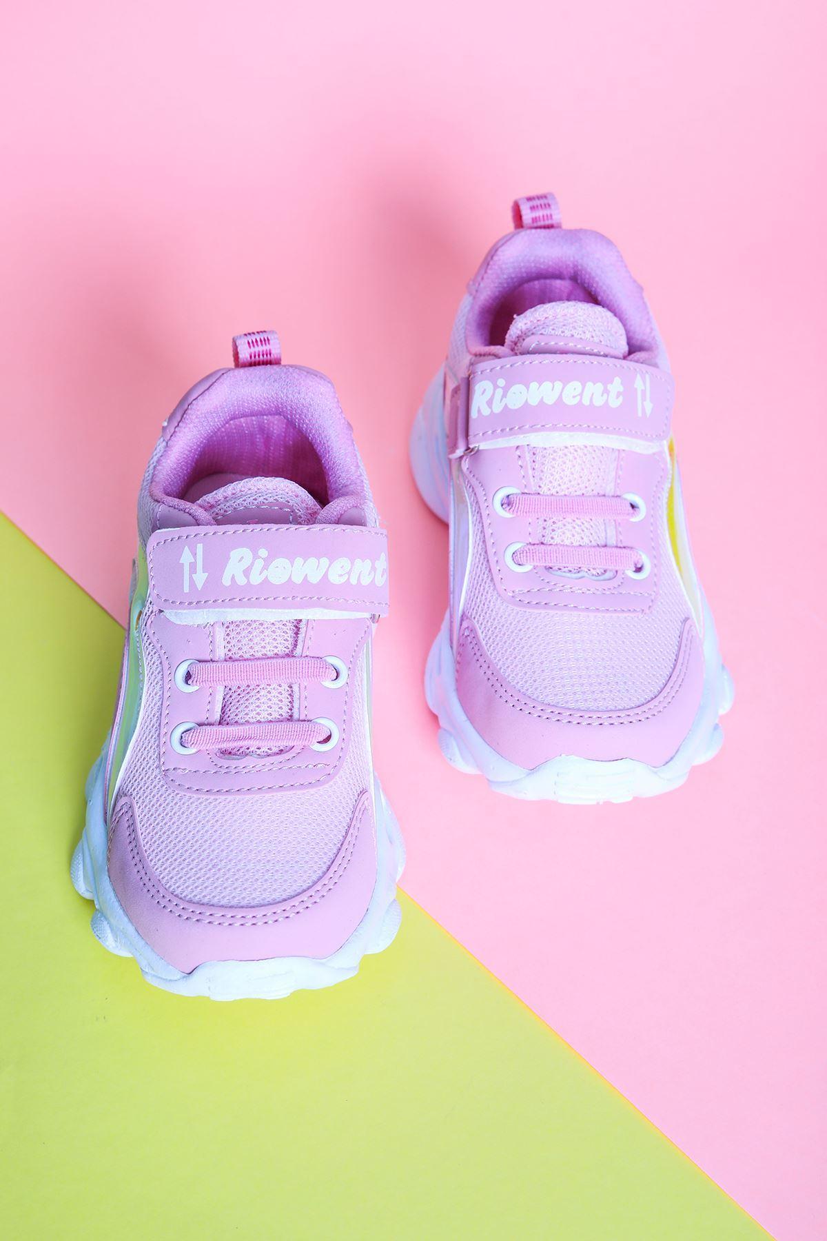 Beyaz Tabanlı Pembe Çocuk Spor Ayakkabı
