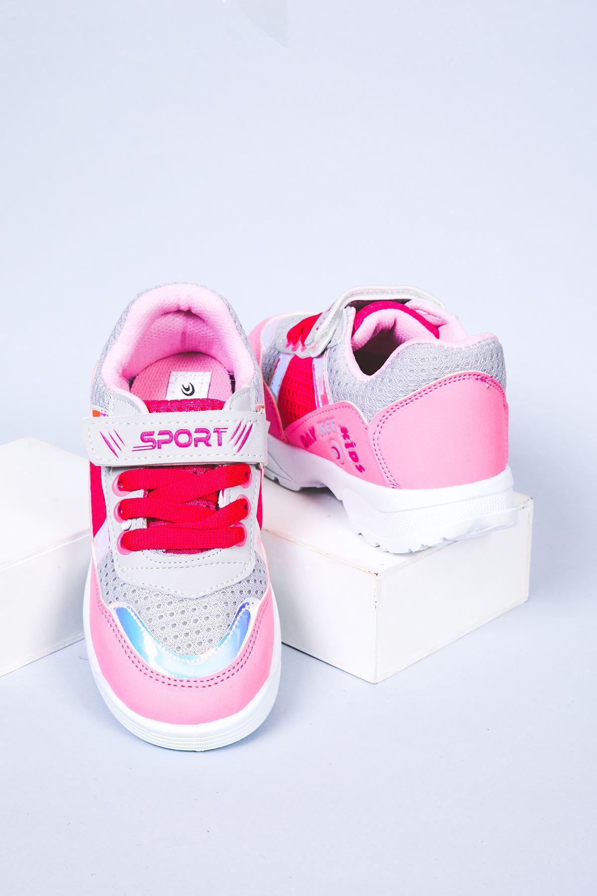 Fileli Pembe Spor Ayakkabı