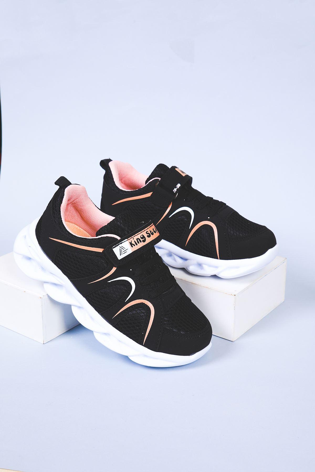 Yüksek Taban Siyah Çocuk Spor Ayakkabı