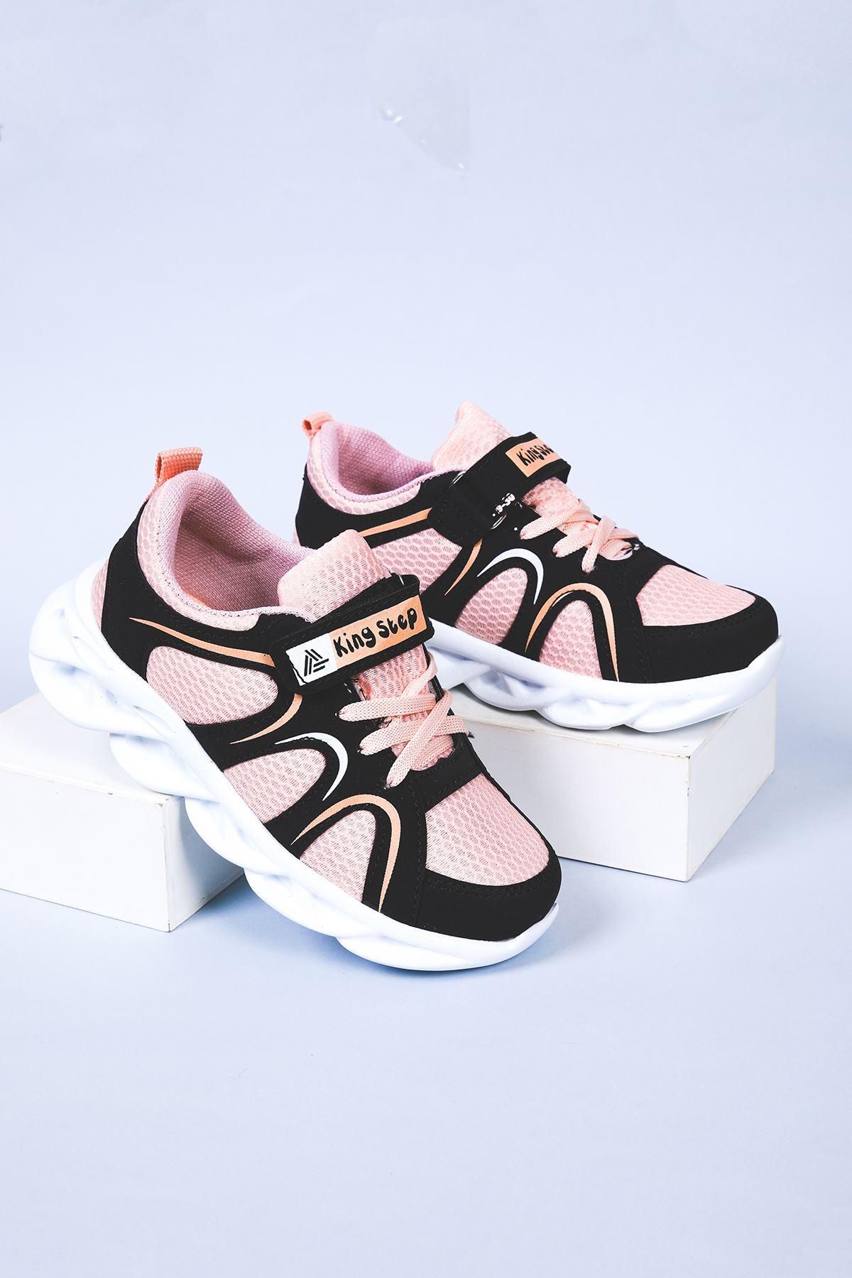 Yüksek Taban Pudra Çocuk Spor Ayakkabı