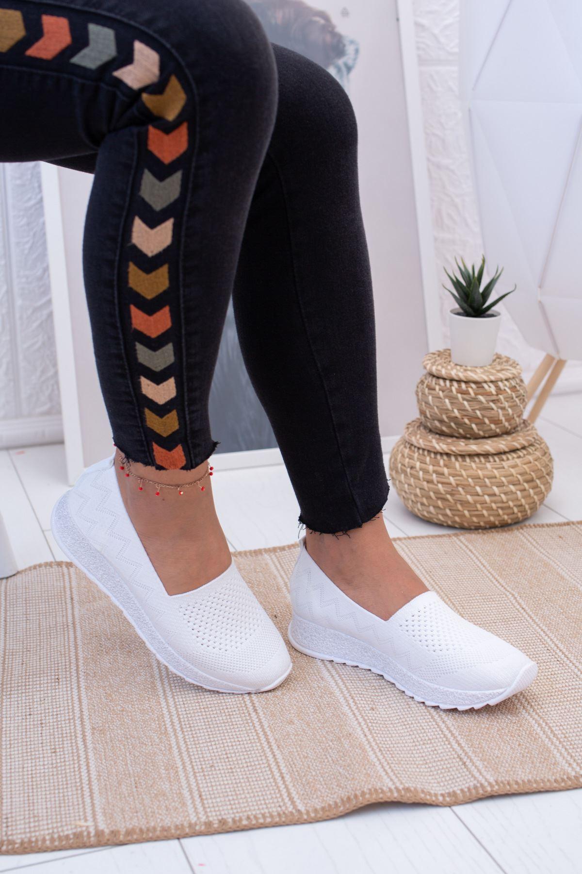 Ortopedik Pedli Triko Spor Ayakkabı