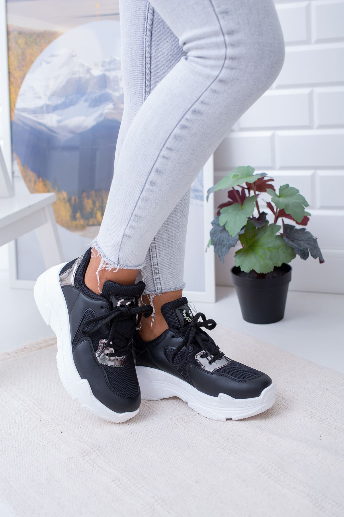 Loic Siyah Spor Ayakkabı