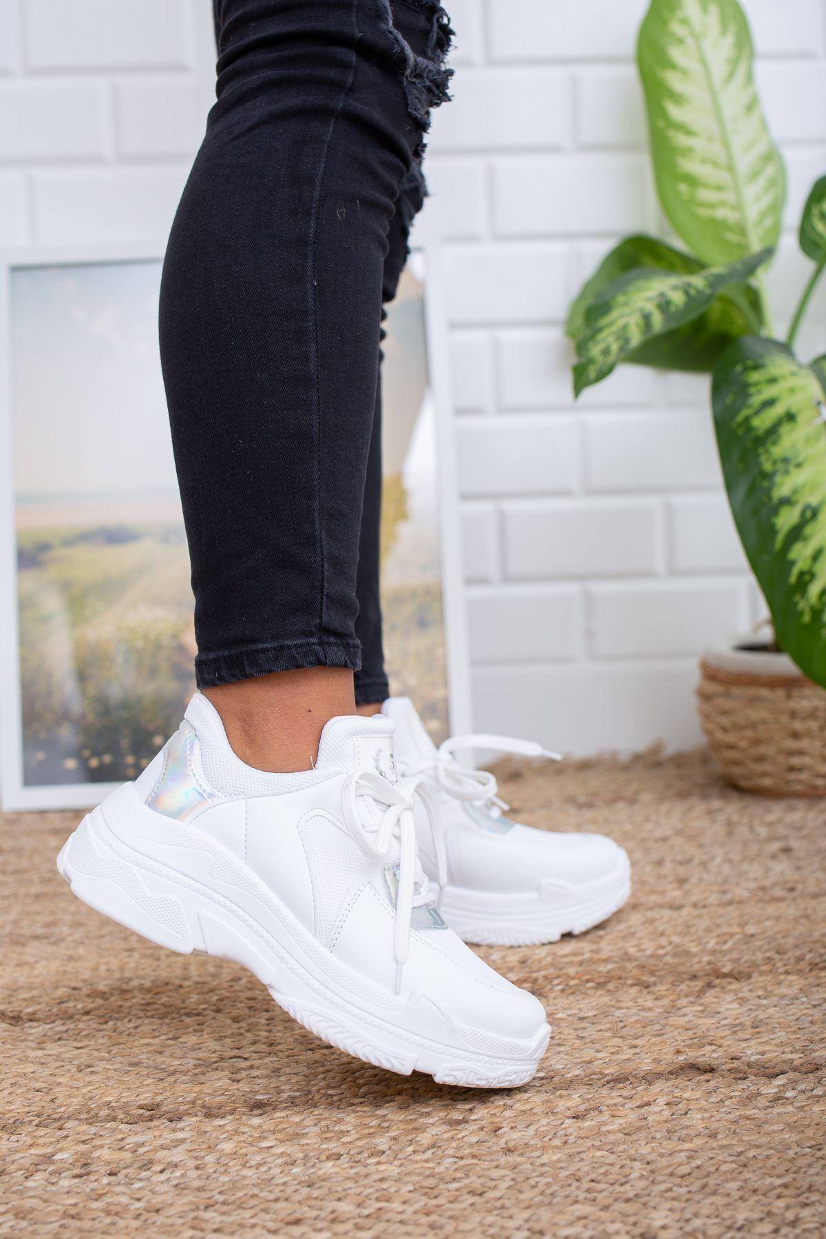 Loic  Beyaz Hologram Spor Ayakkabı