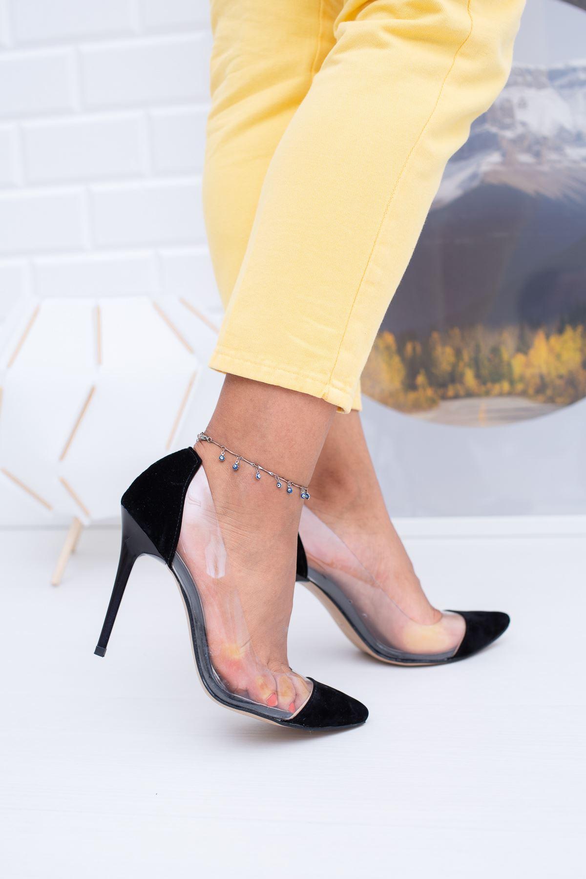 Şeffaf Çivi Topuk Ayakkabı