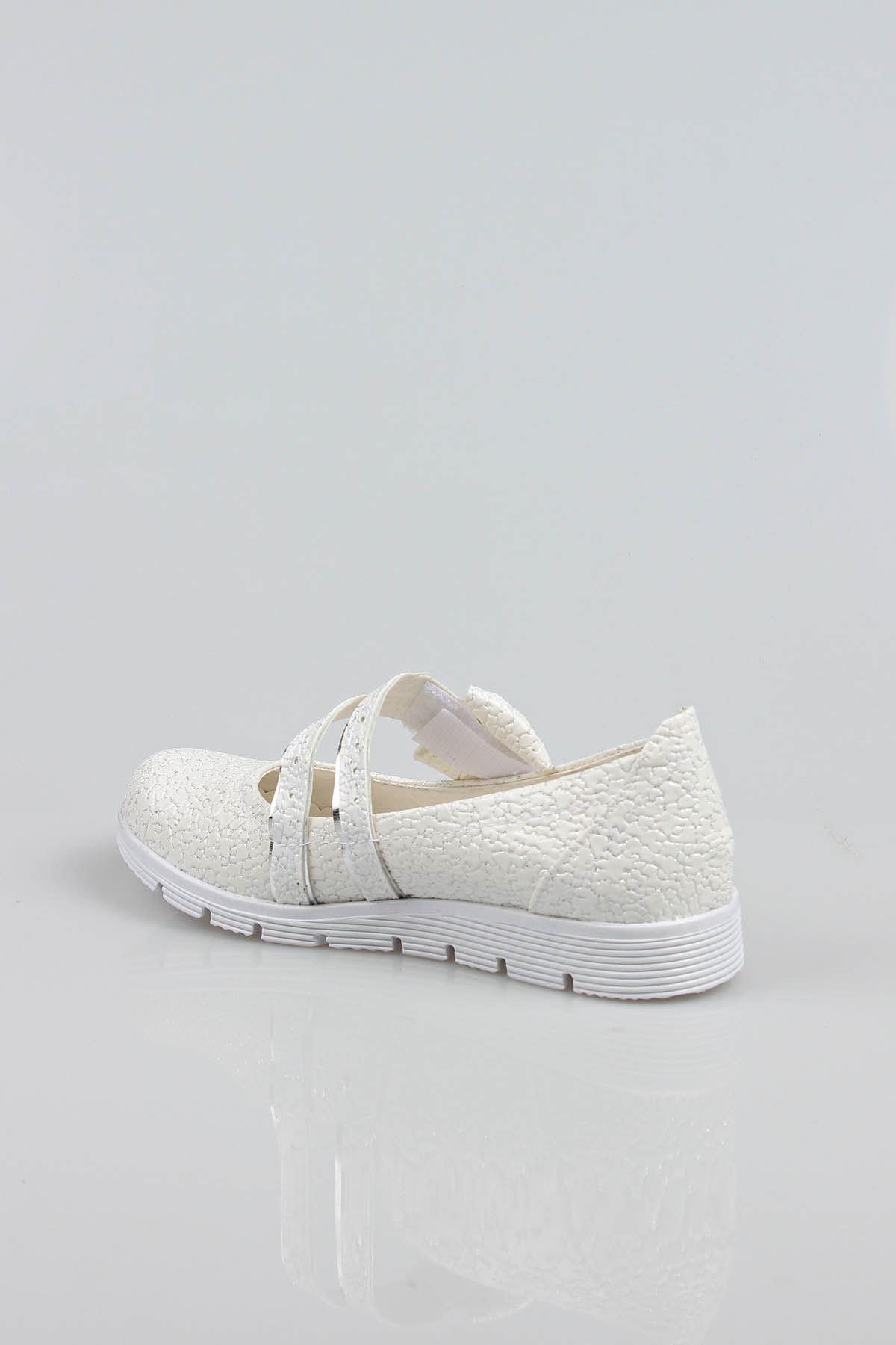 Termo Taban Çatallı Fiyonklu Çatlak Deri Kız Çocuk Ayakkabı