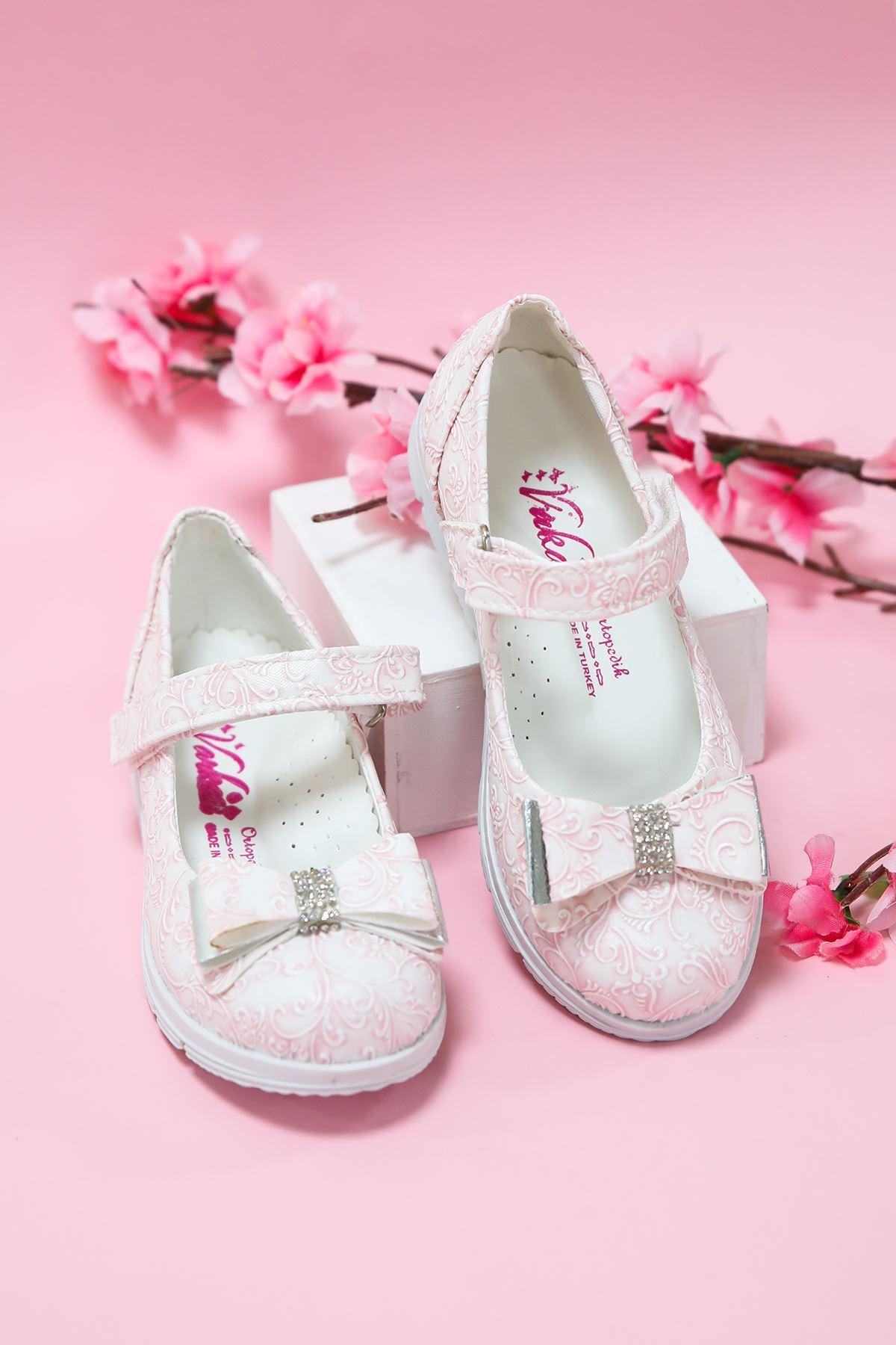 Pembe Sarmaşık  Kız Çocuk Ayakkabı
