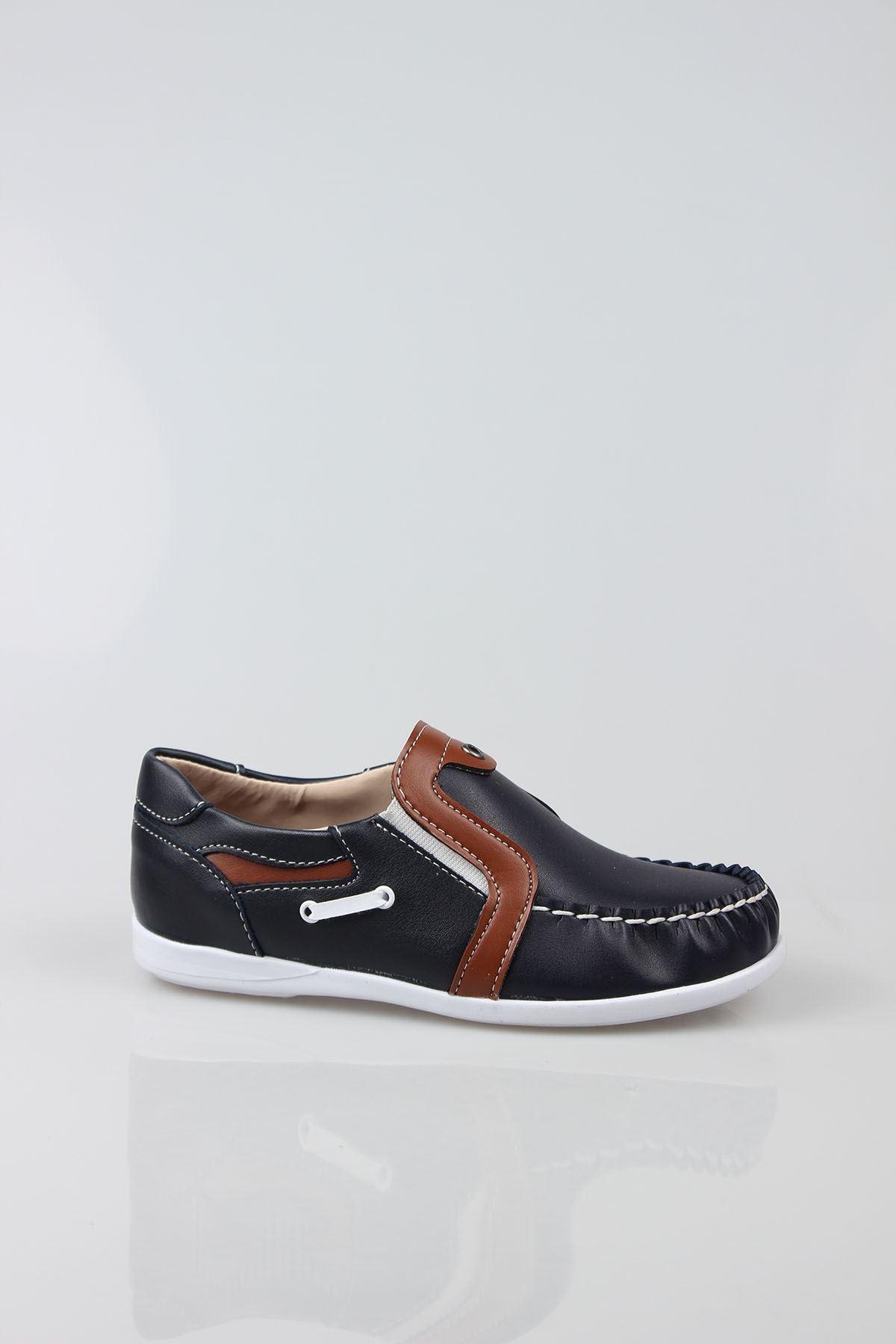 Lacivert Taba Garnili Erkek Ayakkabı
