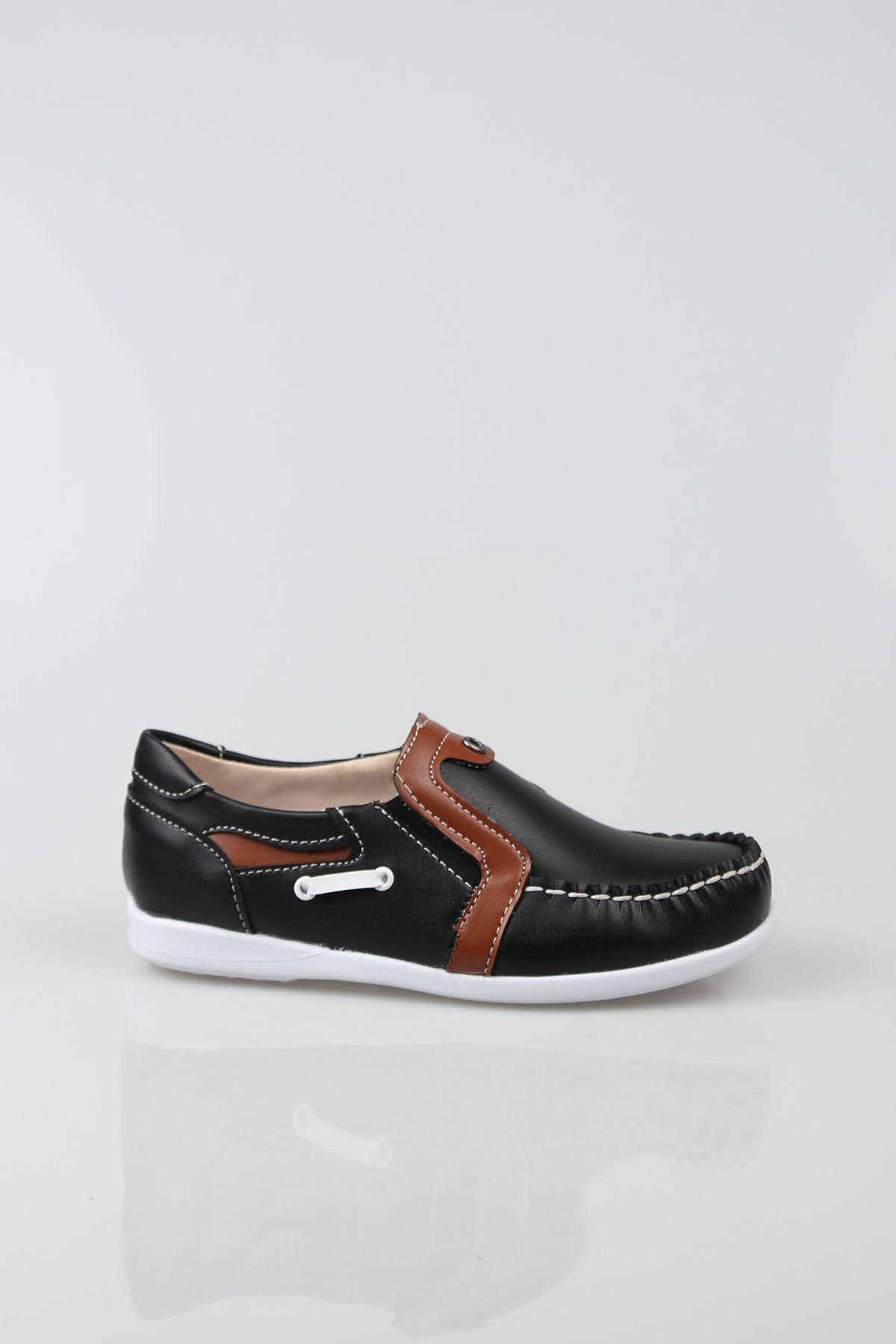 Siyaha Taba Garnili Erkek Çocuk Ayakkabı