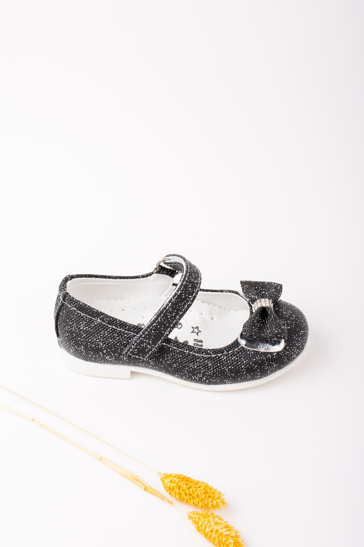 Kız Bebe Simli Ayakkabı