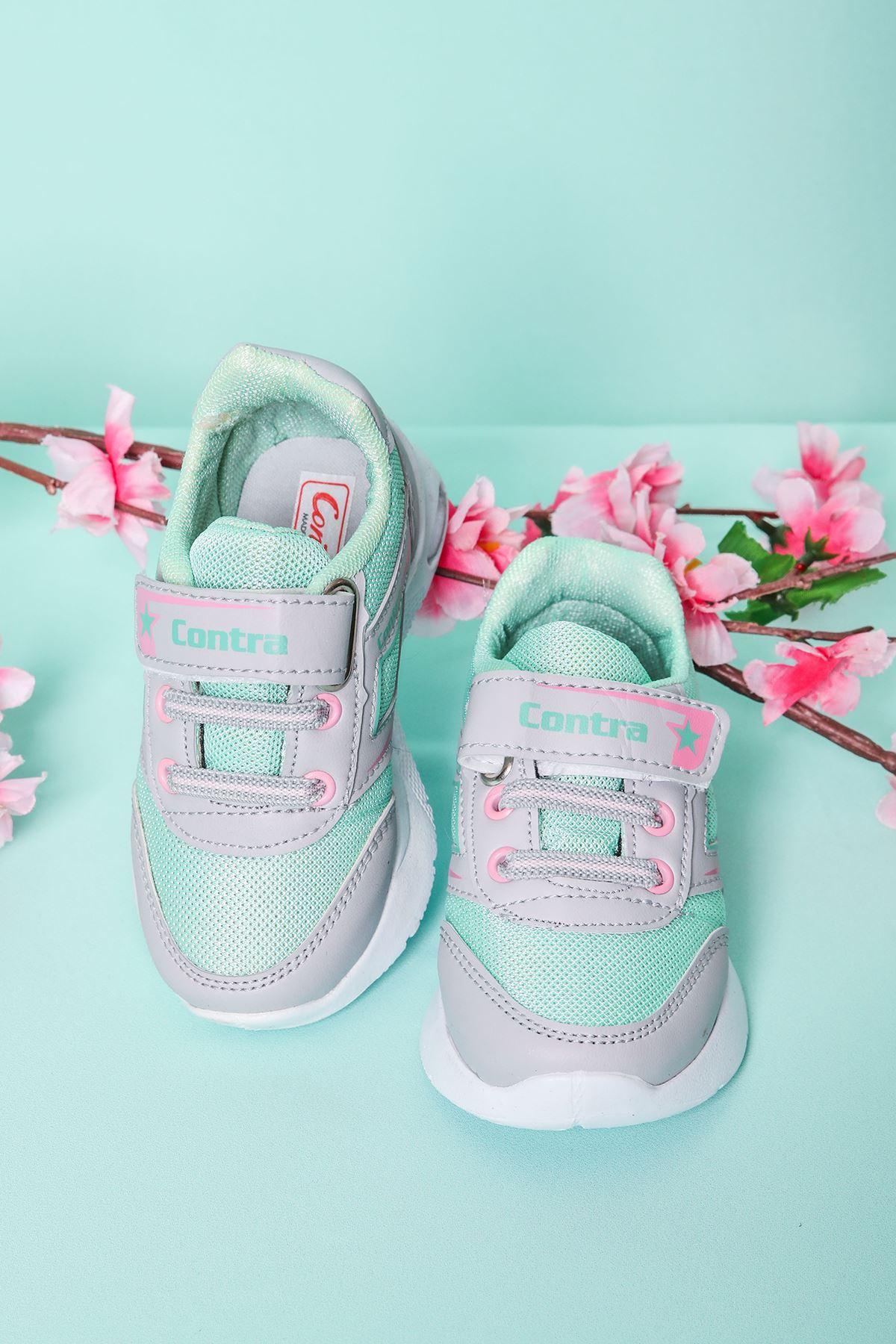 Gri Garnili Yeşil Bebe Spor Ayakkabı