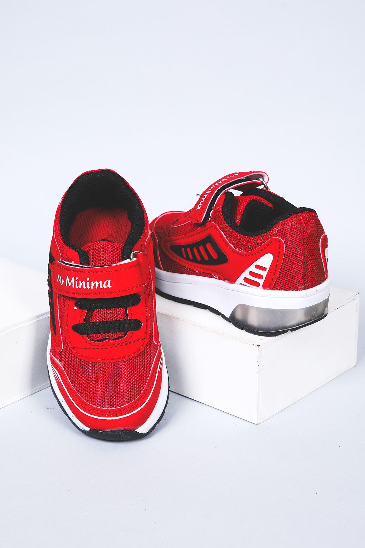Fileli Kırmızı Spor Ayakkabı
