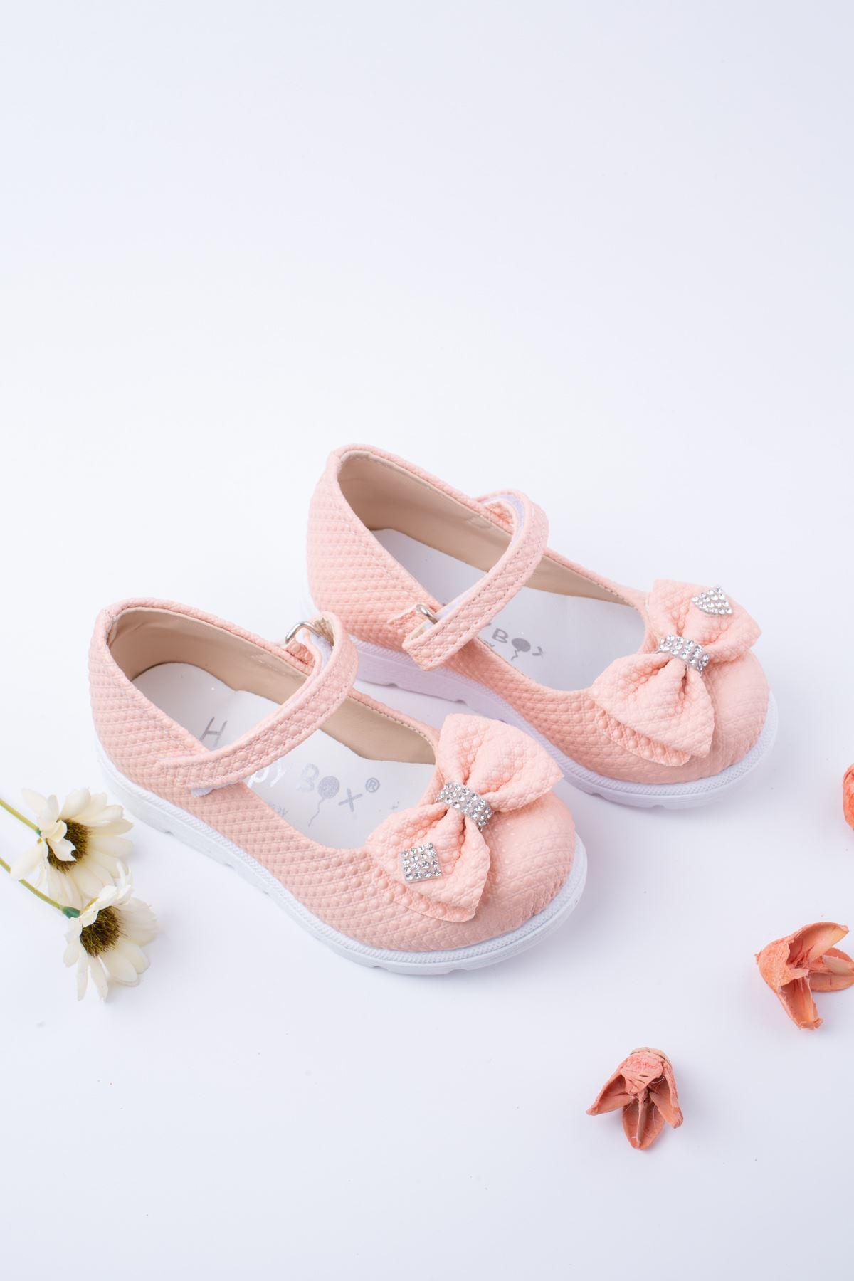 Poli Taban Pudra Noktalı Bebe Ayakkabı