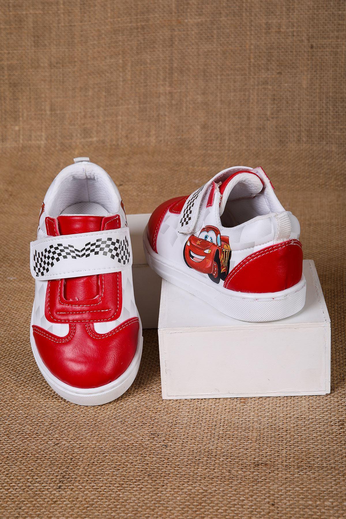 Yarış Araba Desenli Bebe Ayakkabı