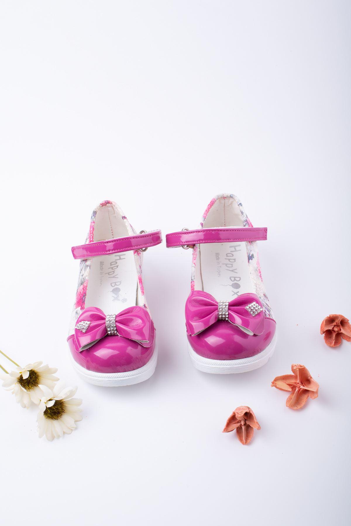 Poli Taban Çiçekli Bebe Ayakkabı