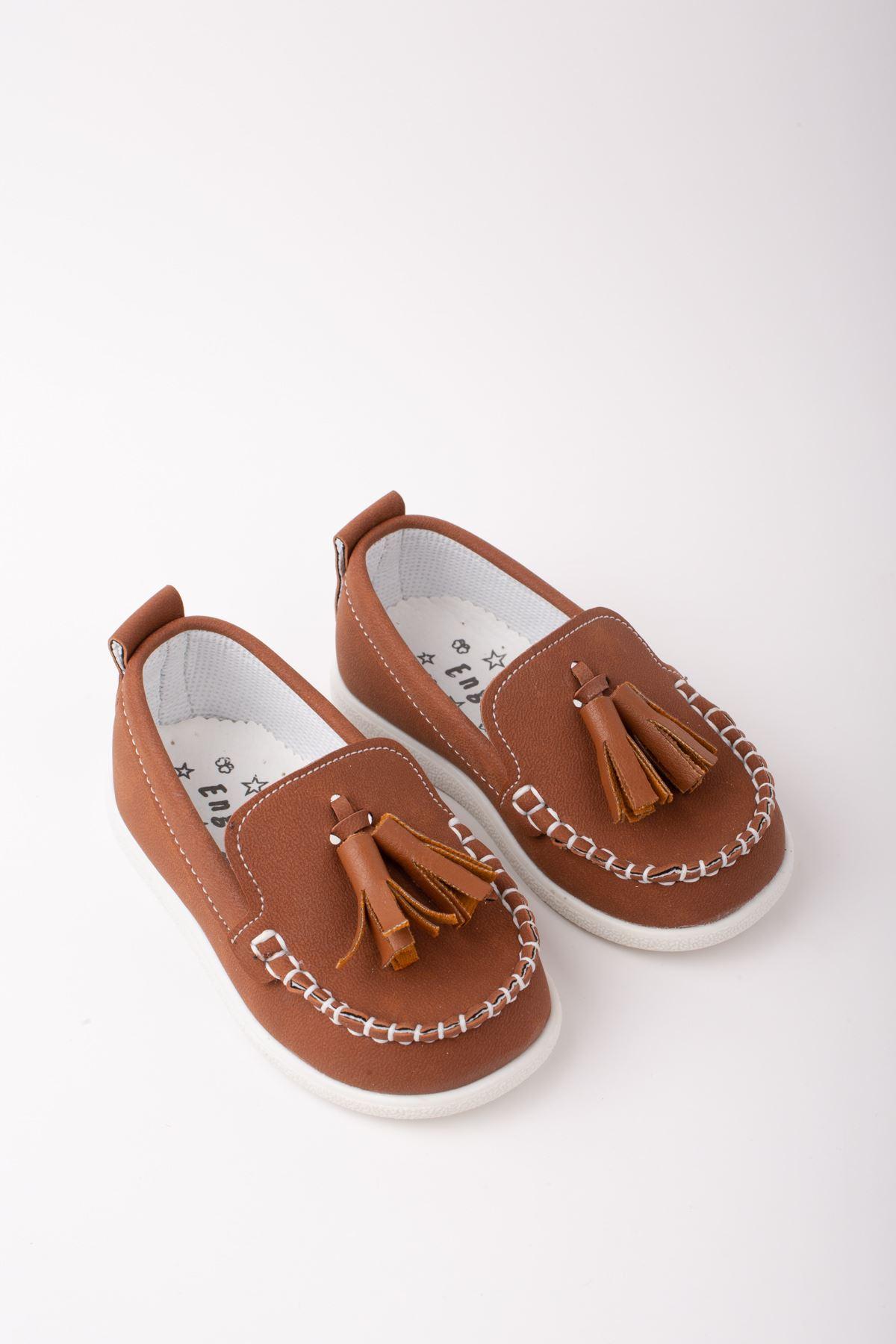 Püsküllü Erkek Bebe Ayakkabı