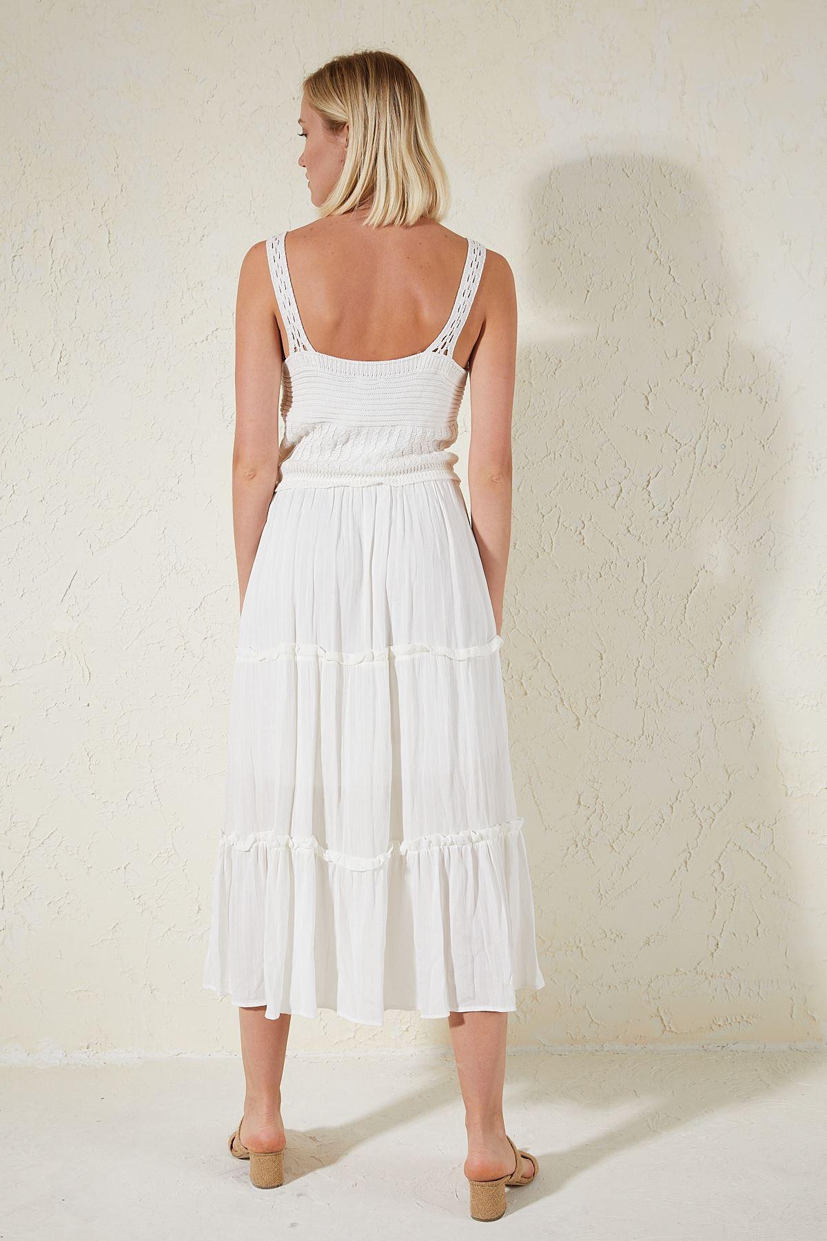 İp Askılı Elbise