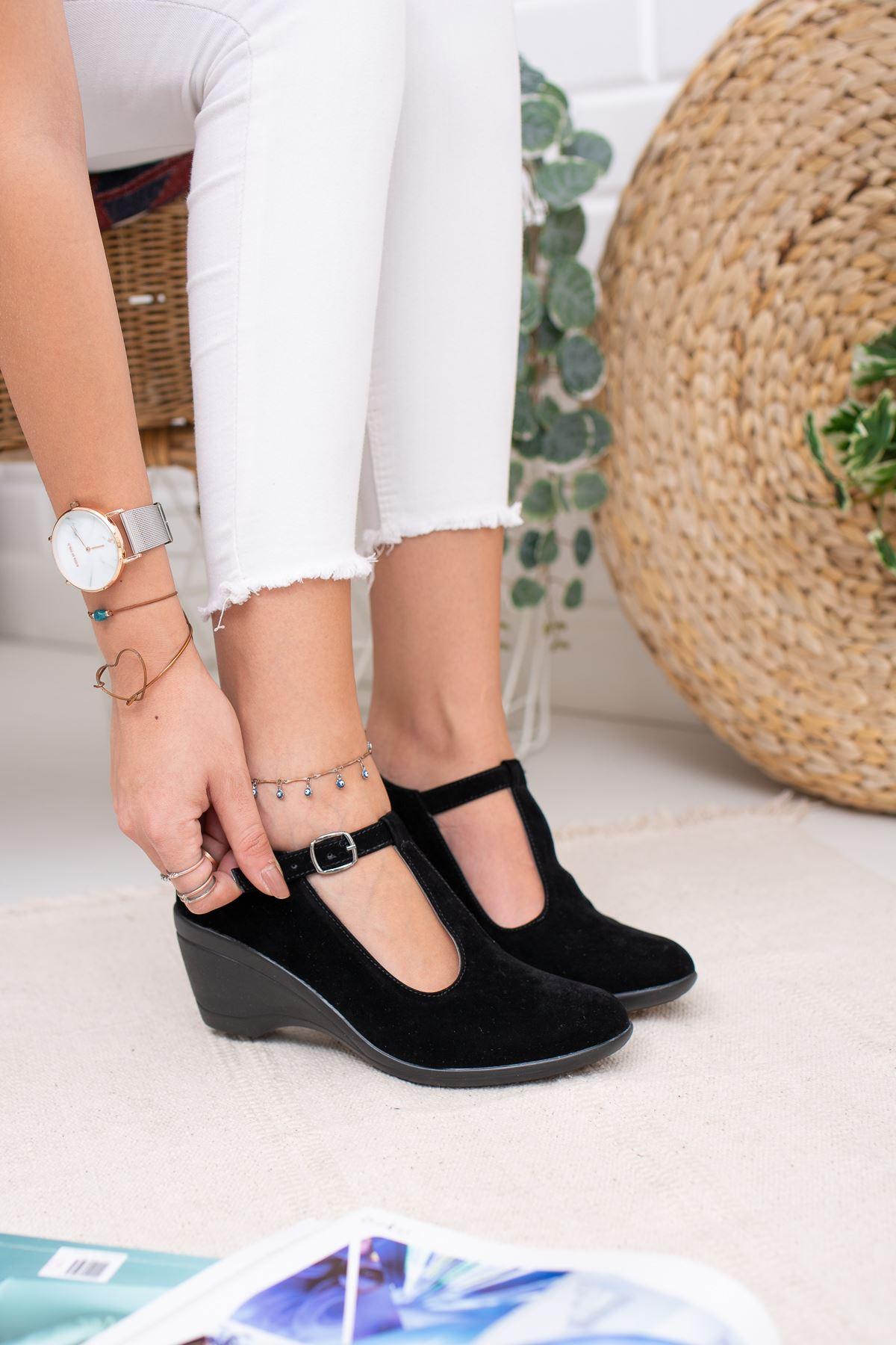 Dolgu Taban Toka Direkli Kadın Ayakkabı