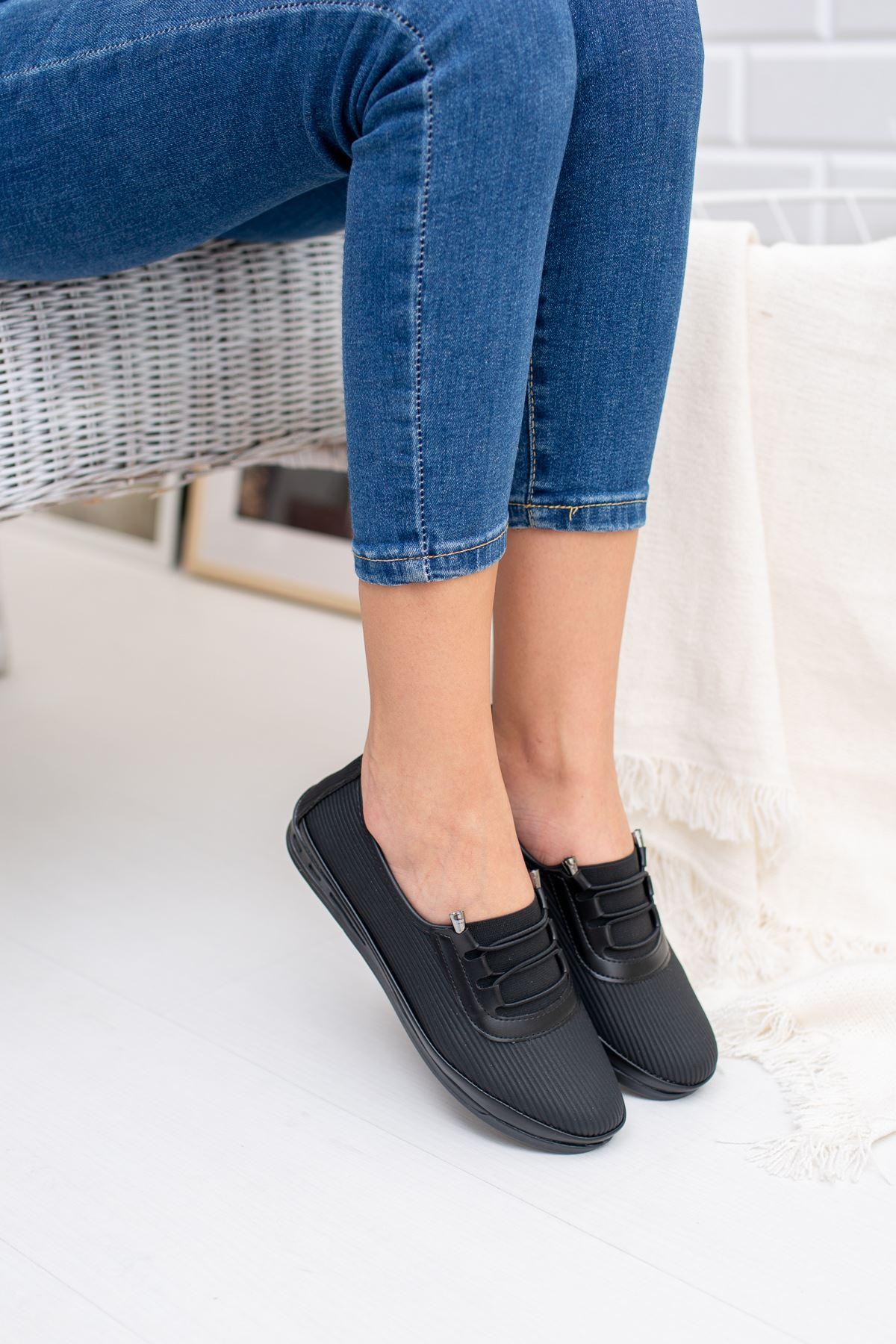 Ortapedik Pedli Siyah Ayakkabı