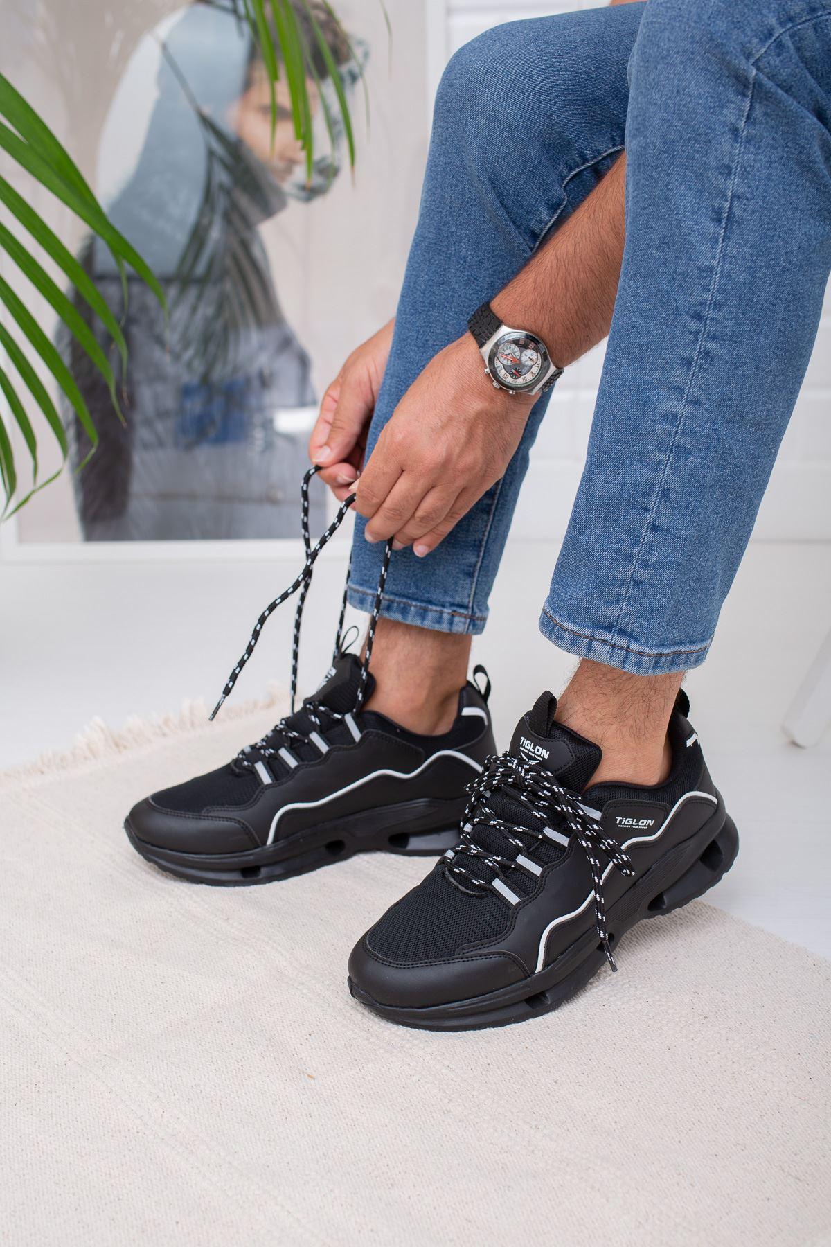 Air Taban Siyah Erkek Spor Ayakkabı