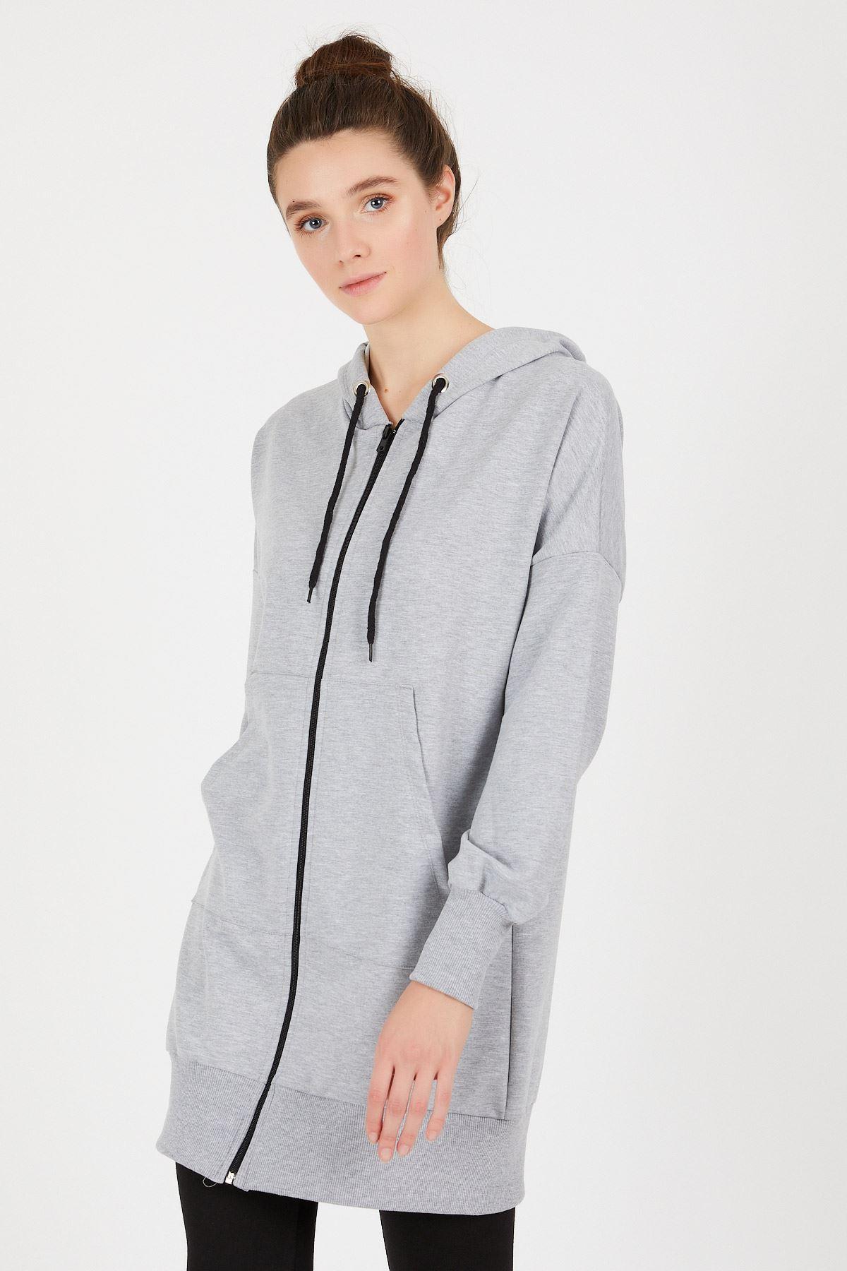 Fermuarlı Sweat Ceket