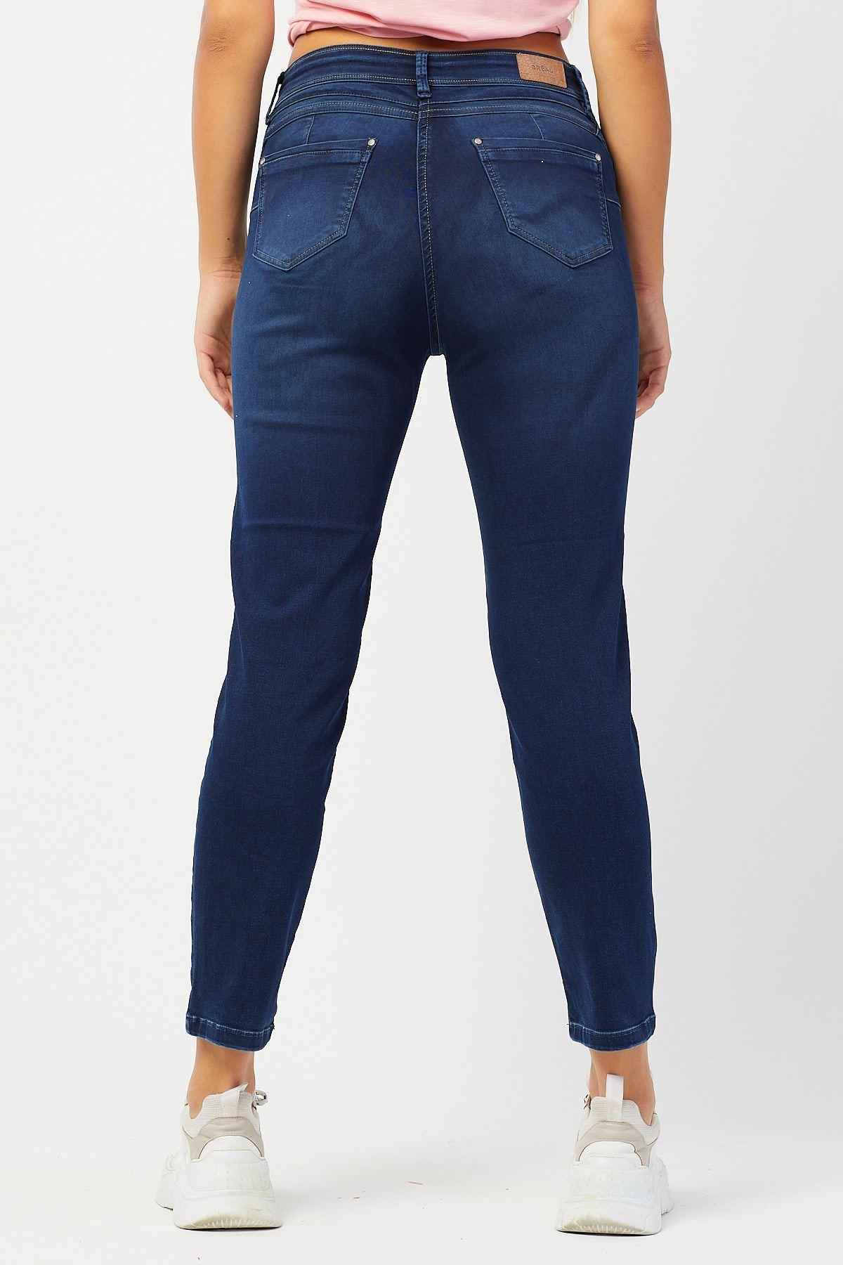 Likralı Yüksek Bel Kot Pantolon