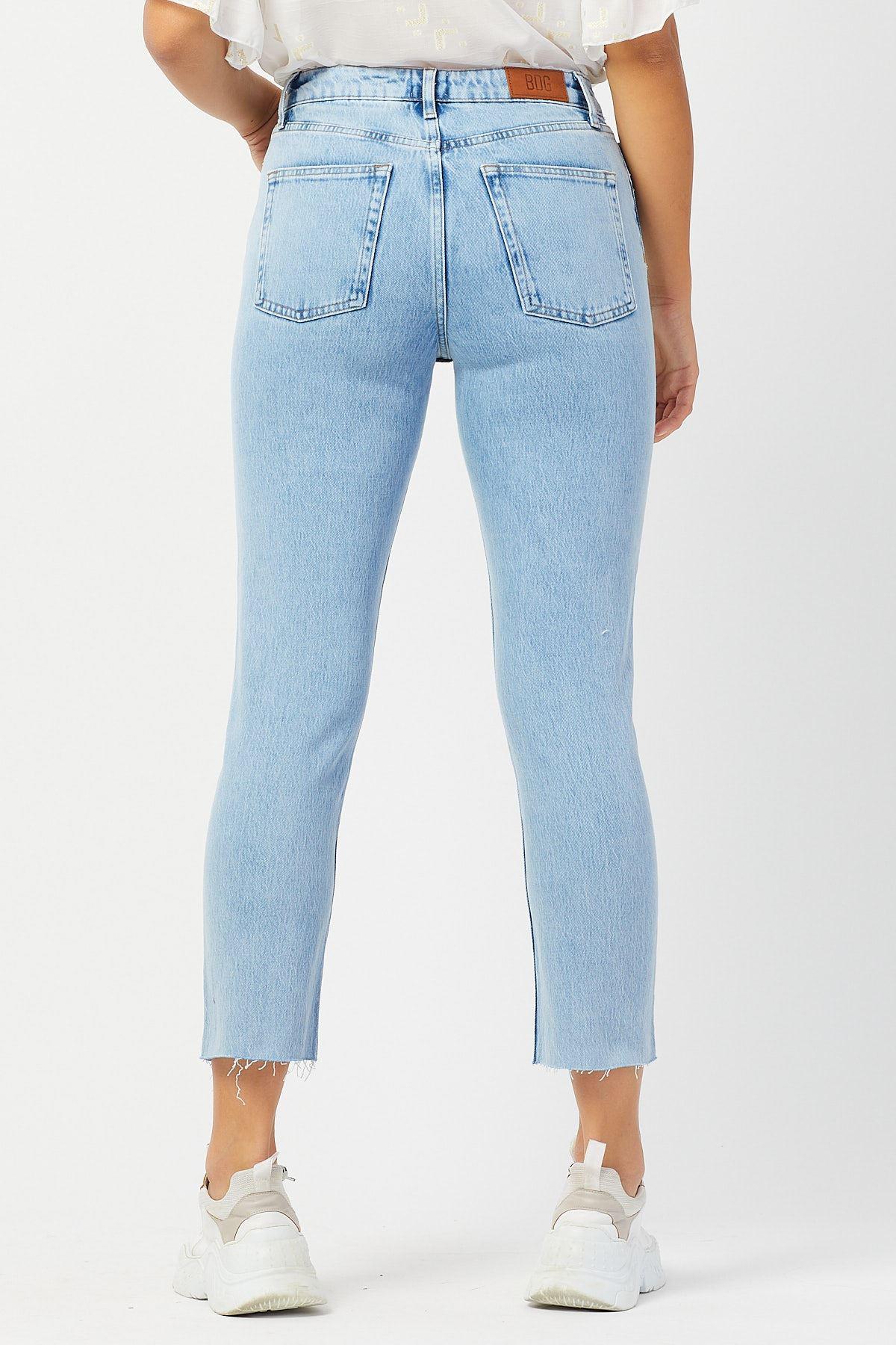 Yüksek Bel Paçası Kesik Pantolon