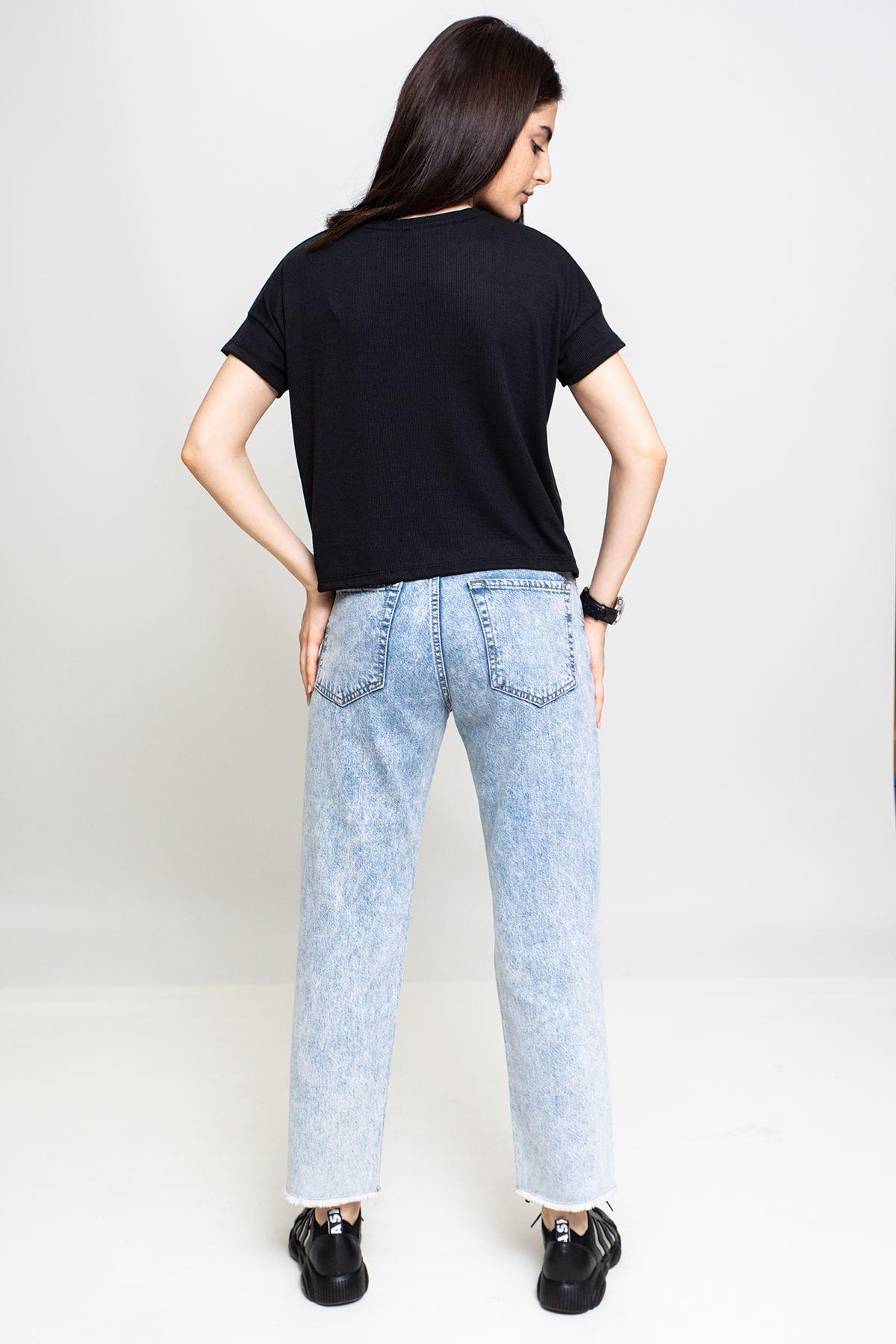 Yırtık Detaylı Mom Jeans (449)