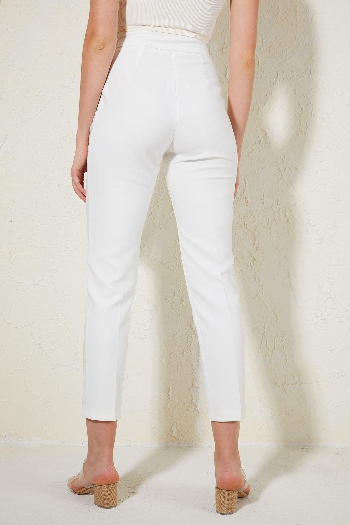 Toka Detaylı Yüksel Bel Pantolon