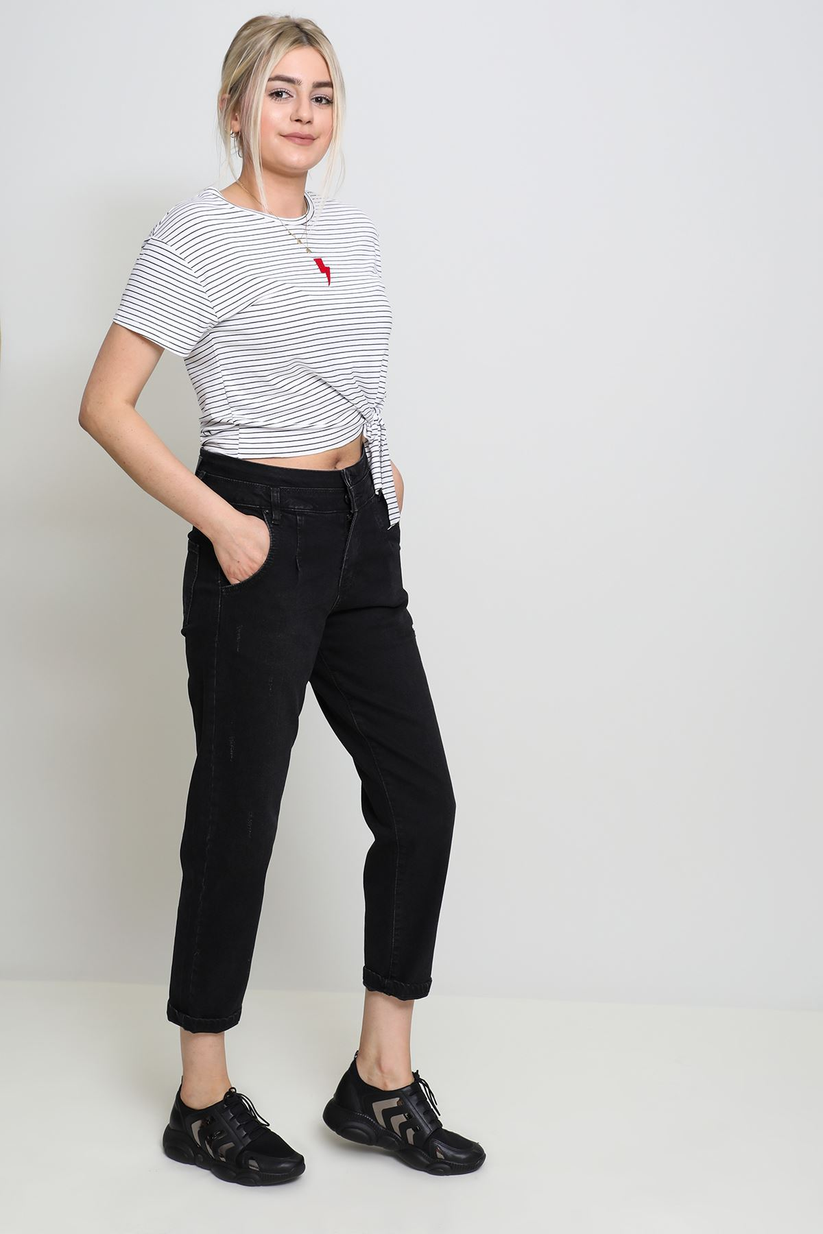 Pileli Mom Jeans (464)
