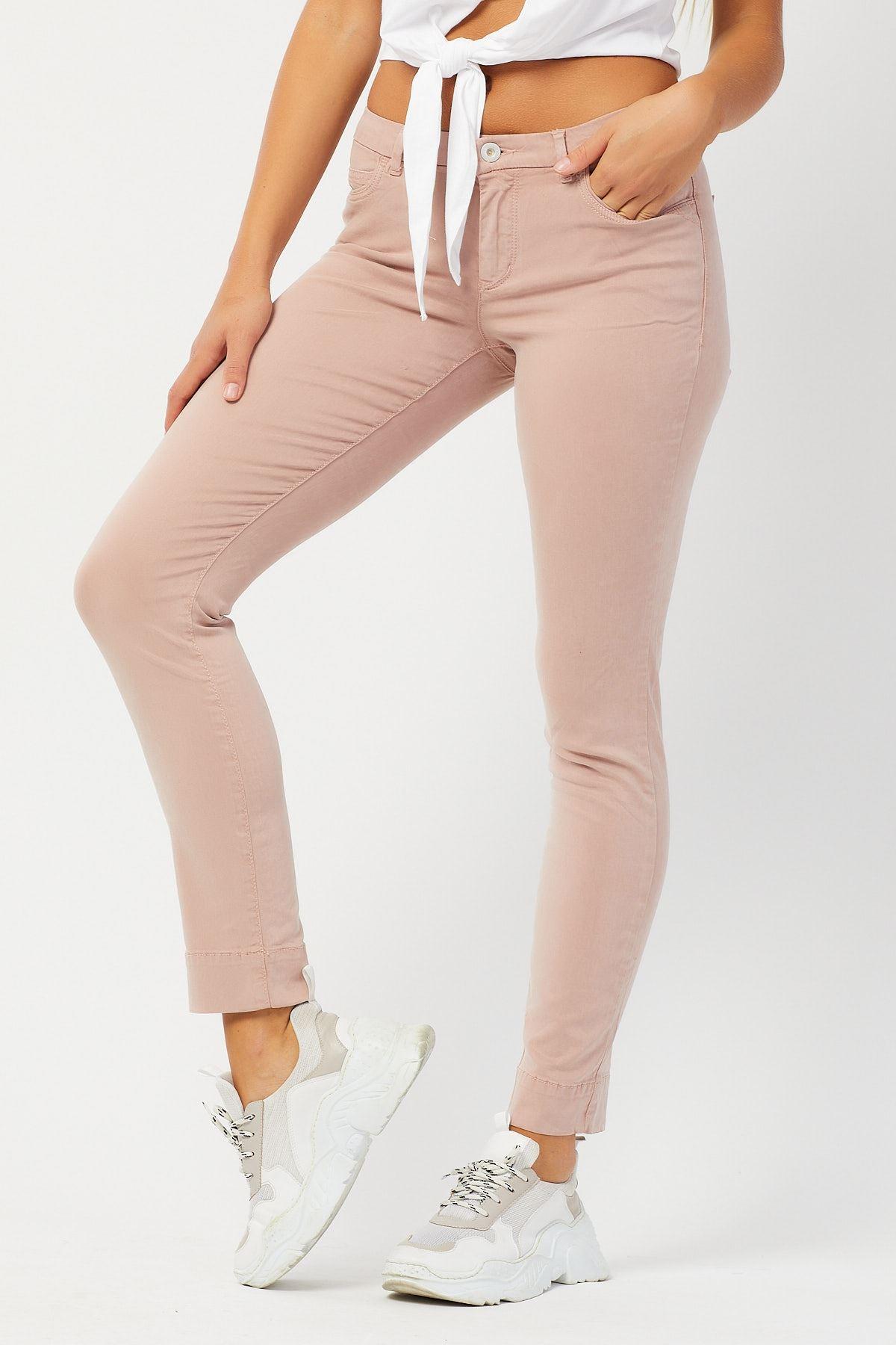 Yüksek Bel Tencel Pantolon