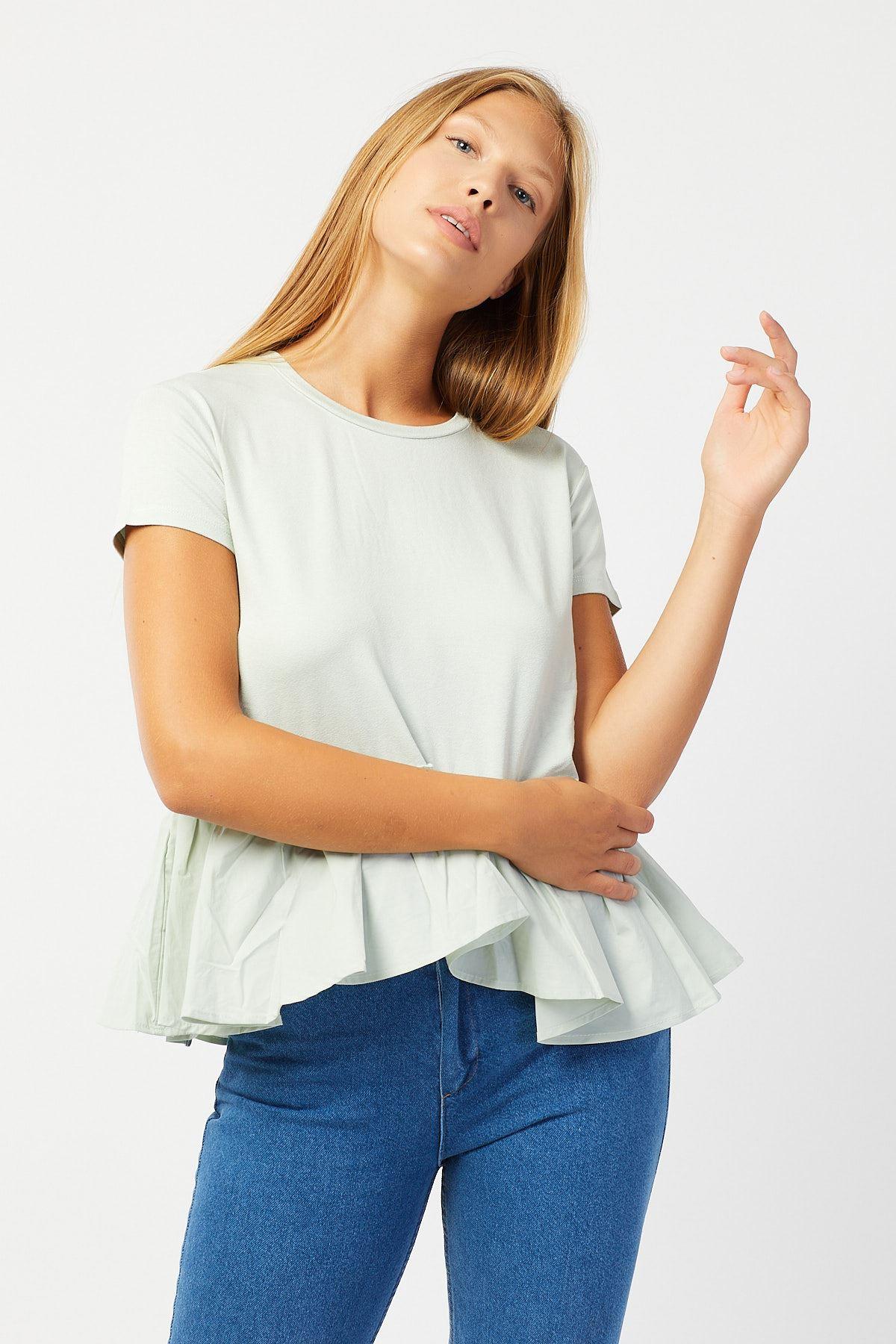 Altı Volanlı Penye Bluz