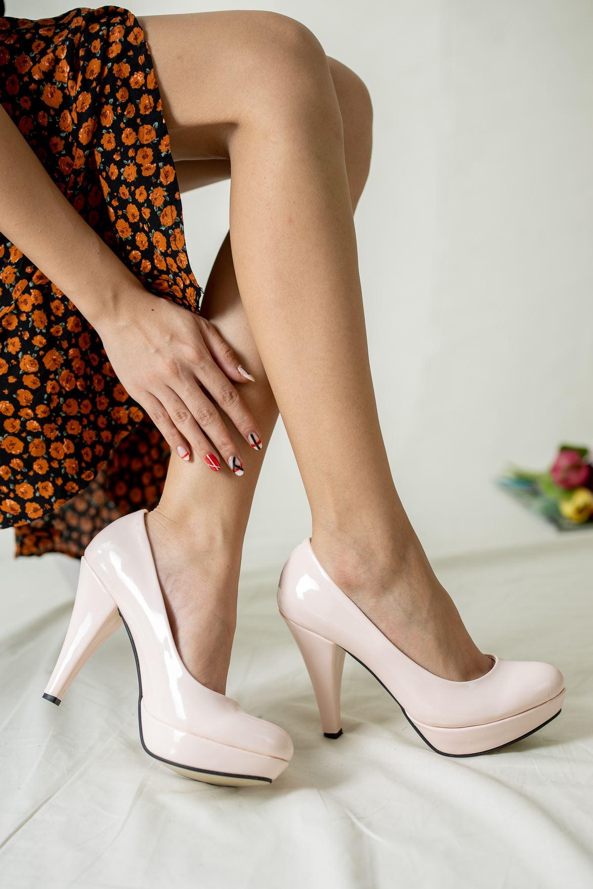 Çift Platform Topuklu Ayakkabı