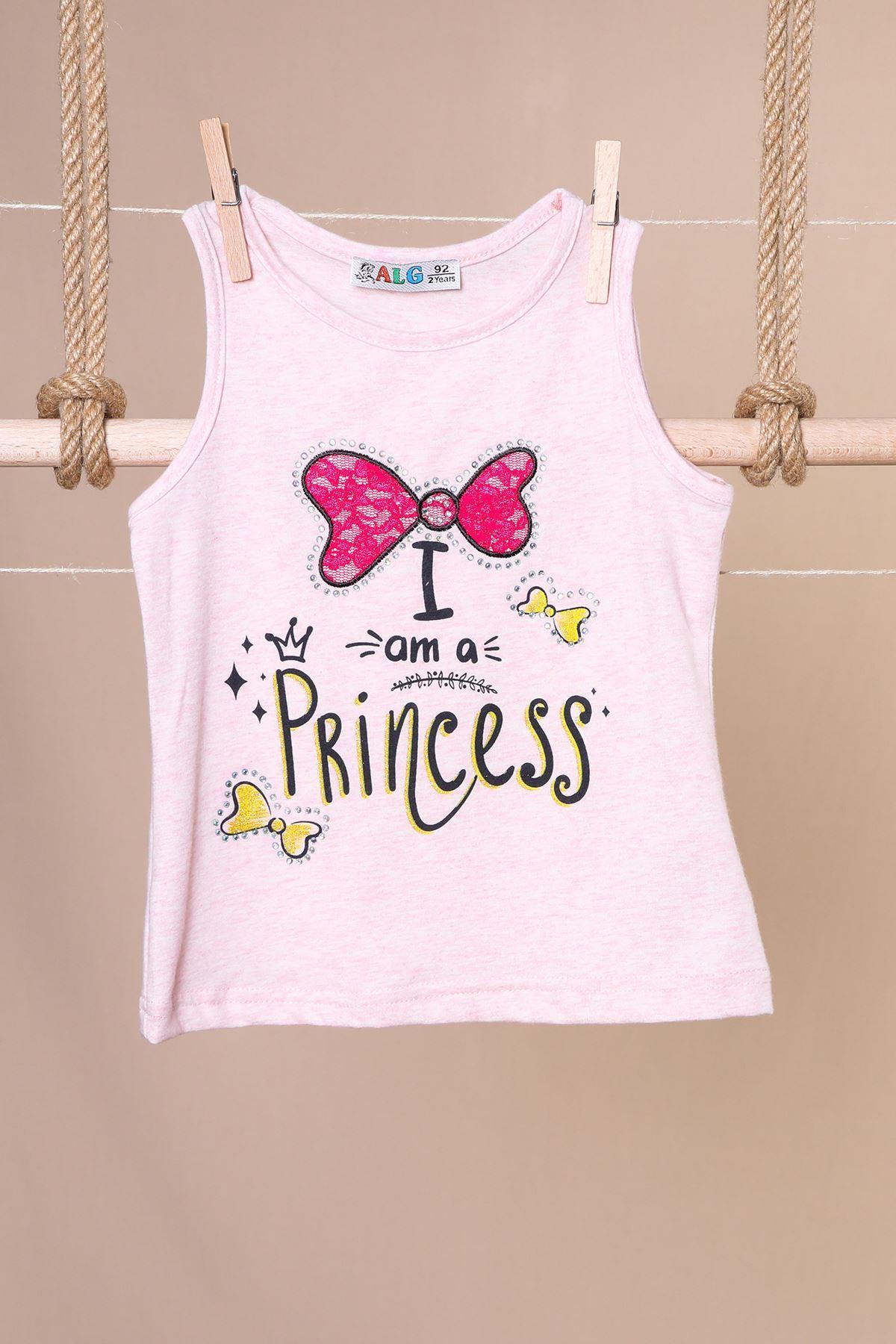 Princess Baskılı Kız Badi