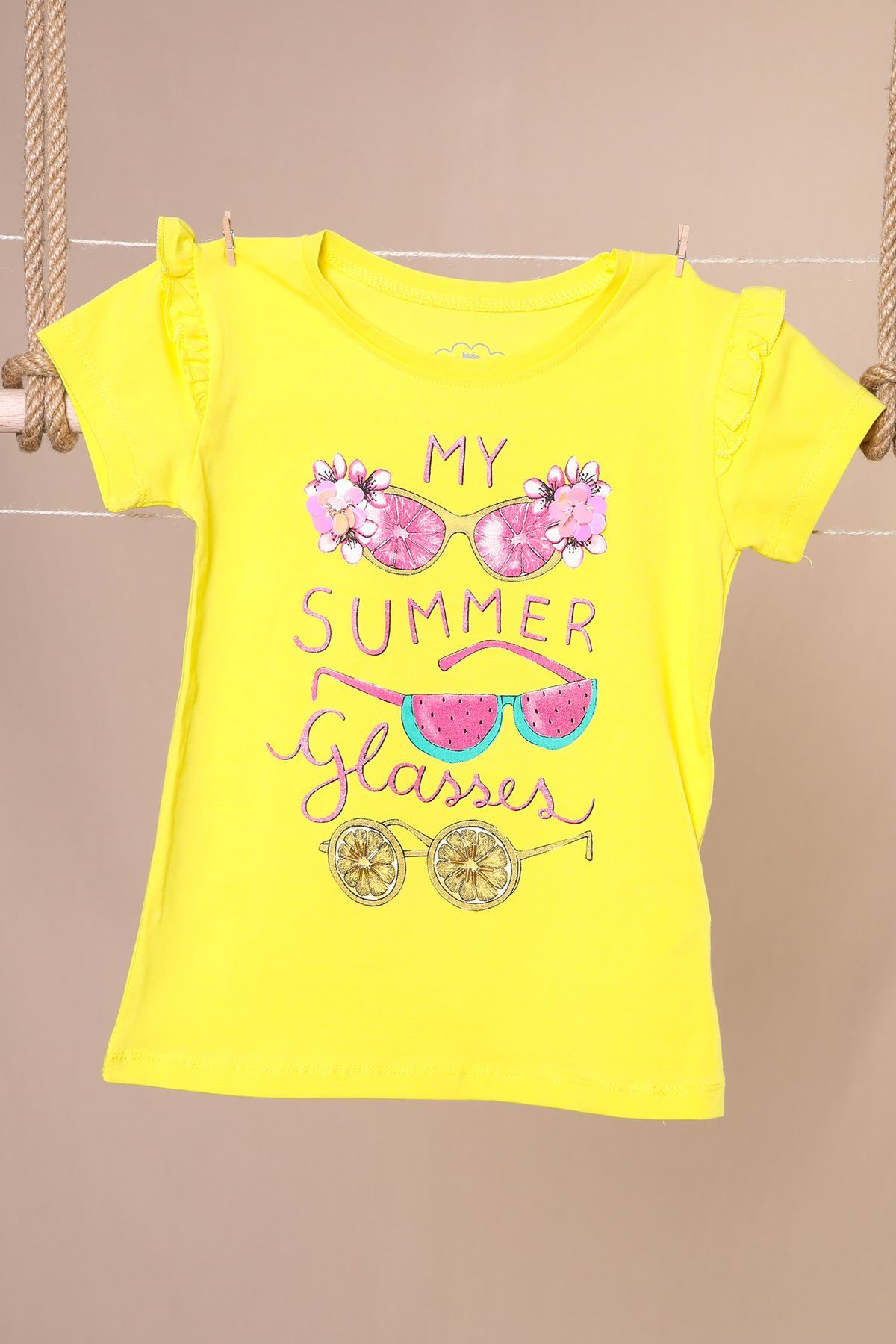 Summer Baskılı Kız Badi